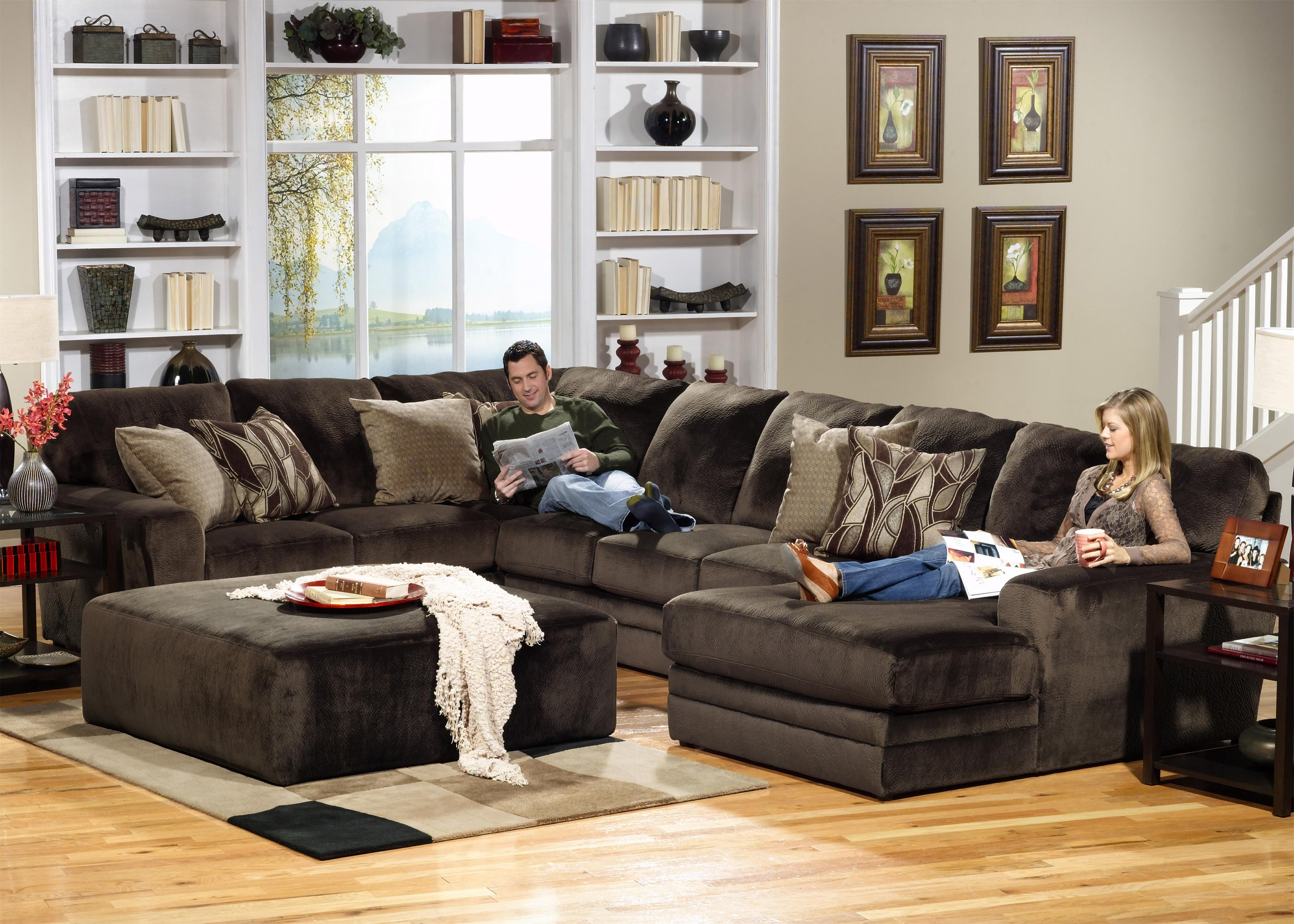 Well Known 4377 Everest 3 Piece Sectional With Rsf Sectionjackson Furniture Inside Jackson 6 Piece Power Reclining Sectionals (View 20 of 20)