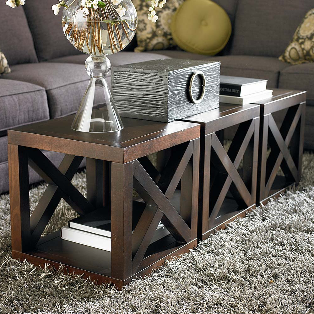 Well Known Aged Iron Cube Tables Pertaining To Wooden Motif Designed Cube Table (View 19 of 20)
