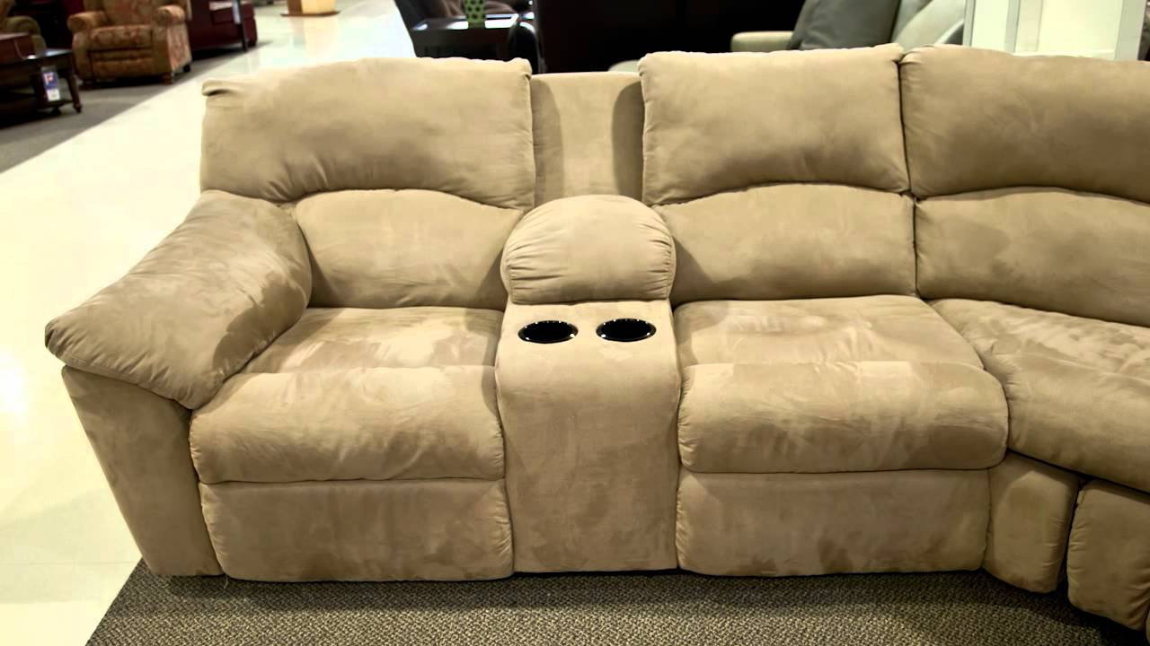 Well Known Ashley Amazon Mocha Sectional – Youtube For Benton 4 Piece Sectionals (View 15 of 20)