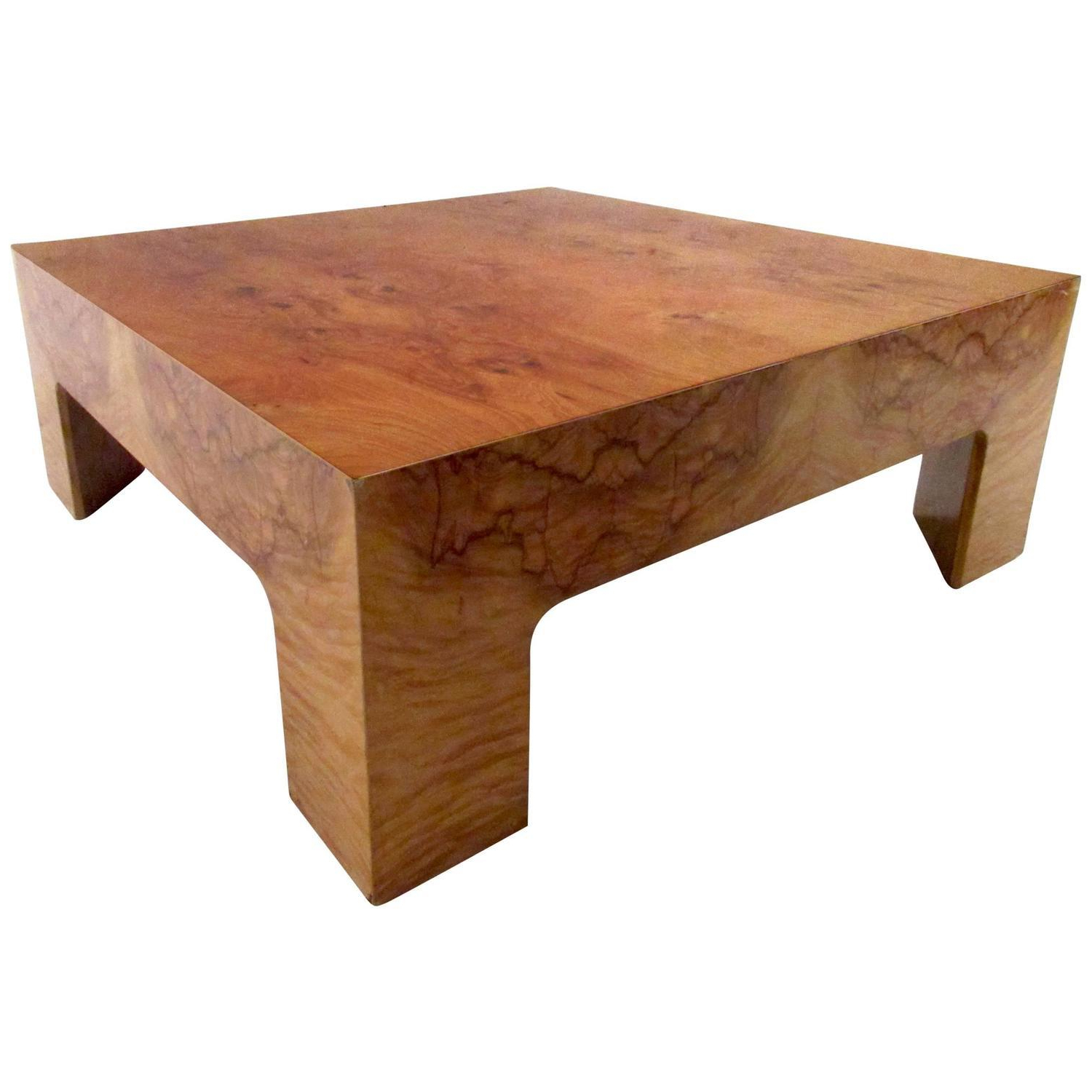 Well Known Burlwood Coffee Table Intended For Oslo Burl Wood Veneer Coffee Tables (Gallery 13 of 20)