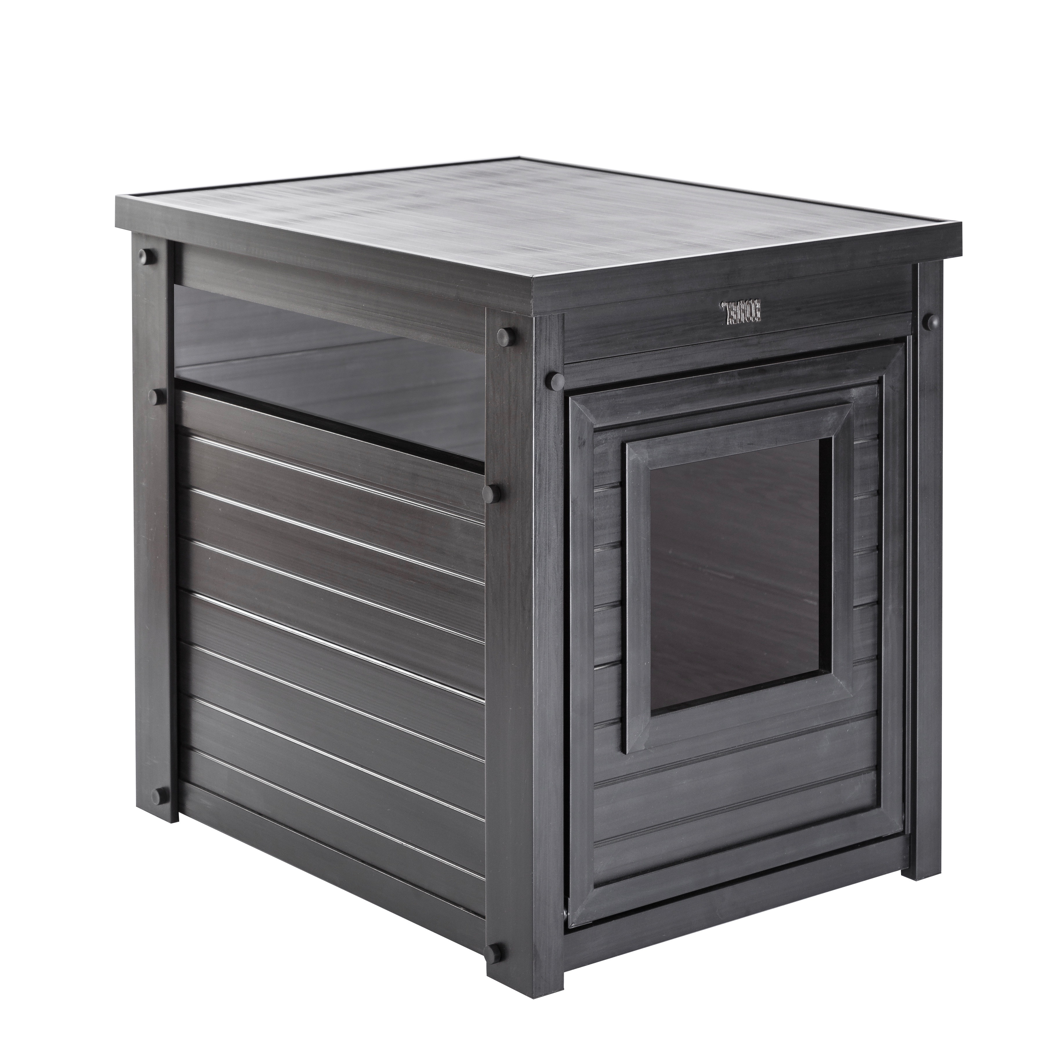 Well Known Charcoal Finish 4 Door Jumbo Sideboards Throughout New Age Pet, Cat Litter Box Cover And End Table, Espresso – Walmart (View 19 of 20)
