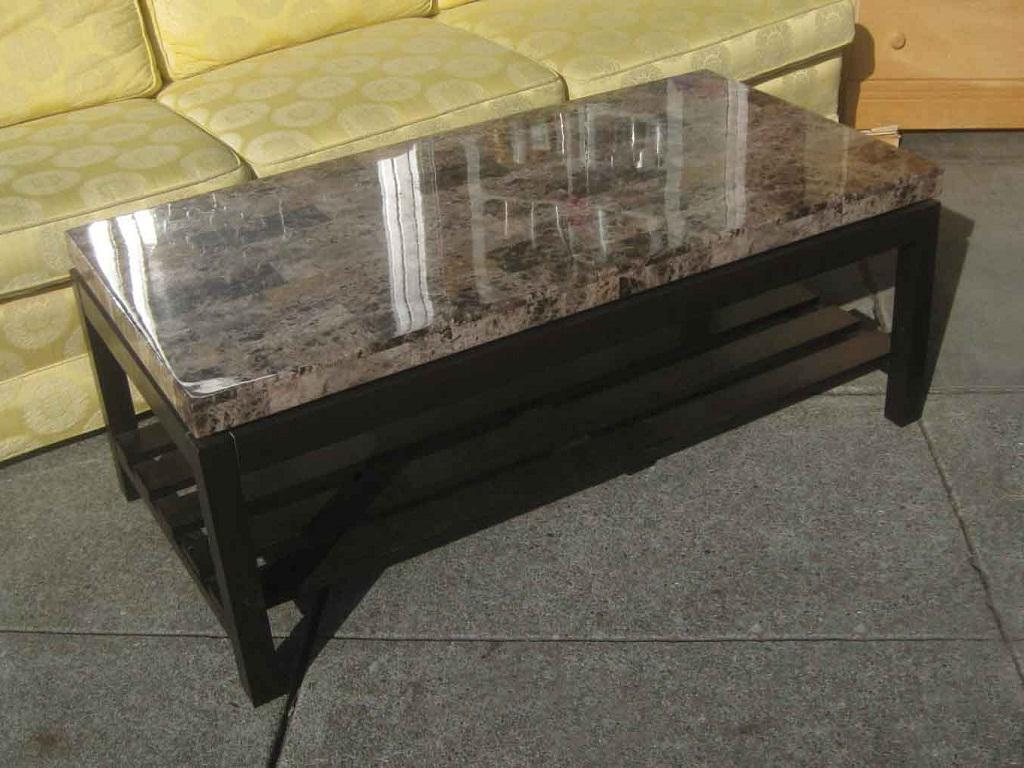 Well Known Darbuka Black Coffee Tables Inside Granite And Wood Coffee Table : Cape Cod Decorations – Granite (View 19 of 20)