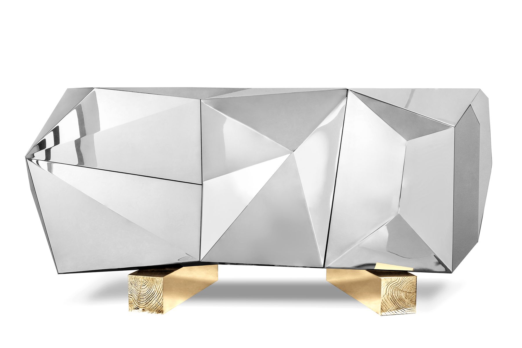 Well Known Diamond Pyrite Sideboard From Covet Paris For Sale At Pamono Pertaining To Diamond Circle Sideboards (View 18 of 20)