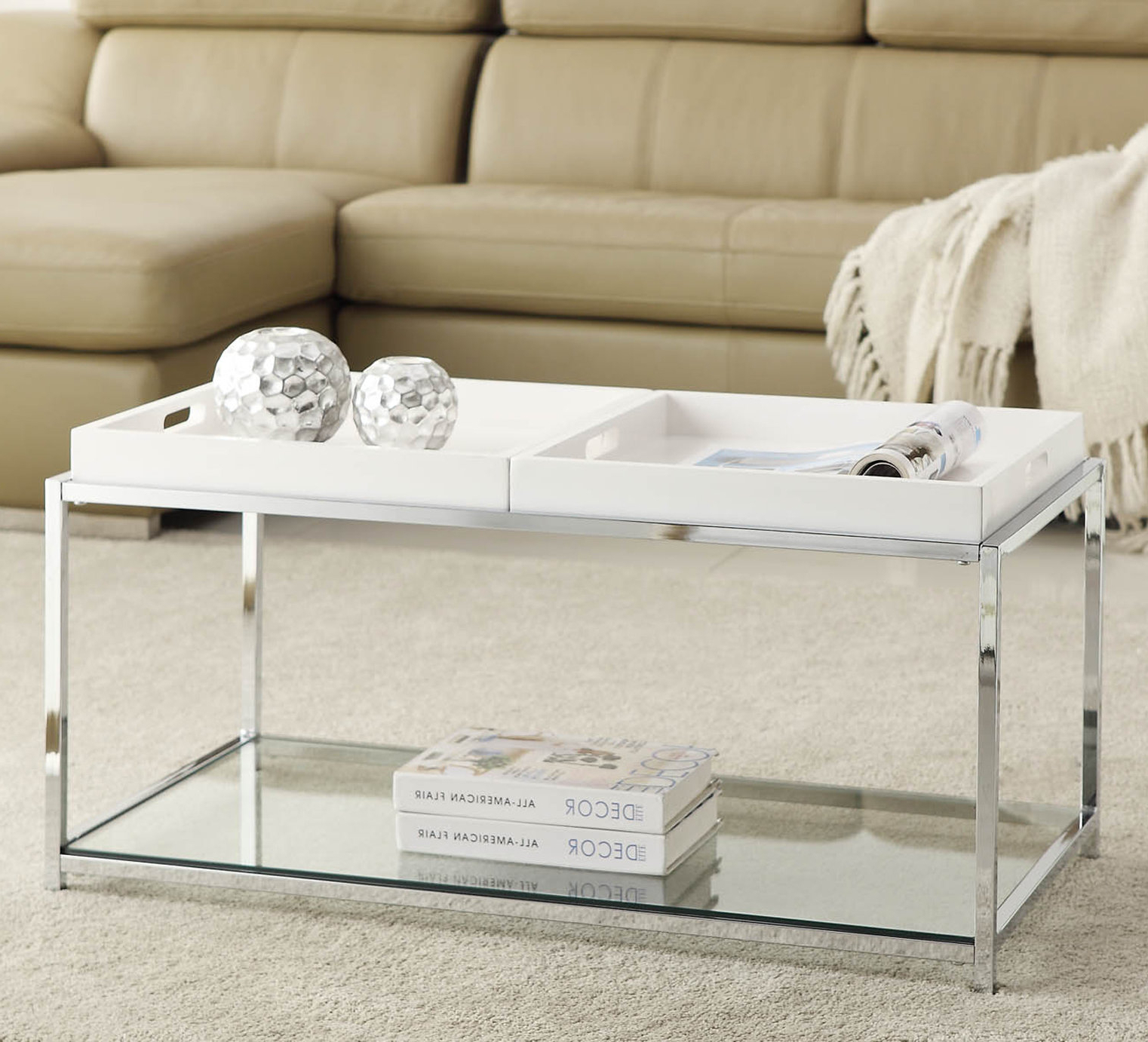 Well Known Element Ivory Rectangular Coffee Tables For Wrought Studio Boger Coffee Table & Reviews (View 19 of 20)