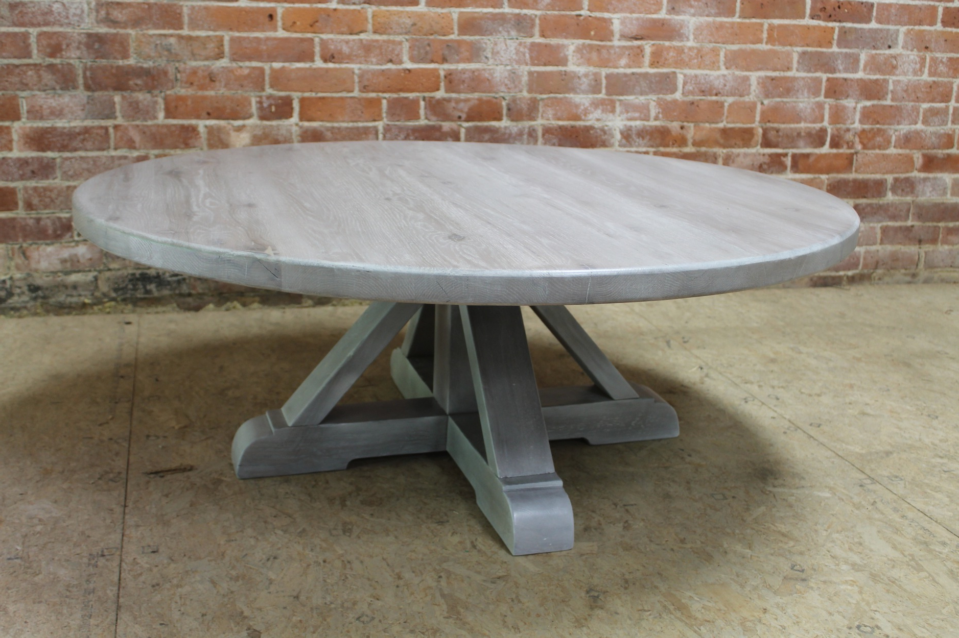 Well Known Farmhouse Coffee Tables Throughout Bale Rustic Grey Round Cocktail Tables With Storage (View 5 of 20)