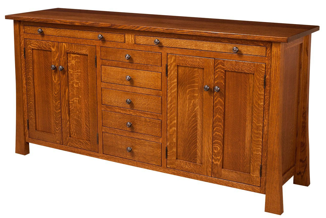 Well Known Harding Craftsman Style Sideboard – Countryside Amish Furniture Throughout Craftsman Sideboards (Gallery 5 of 20)