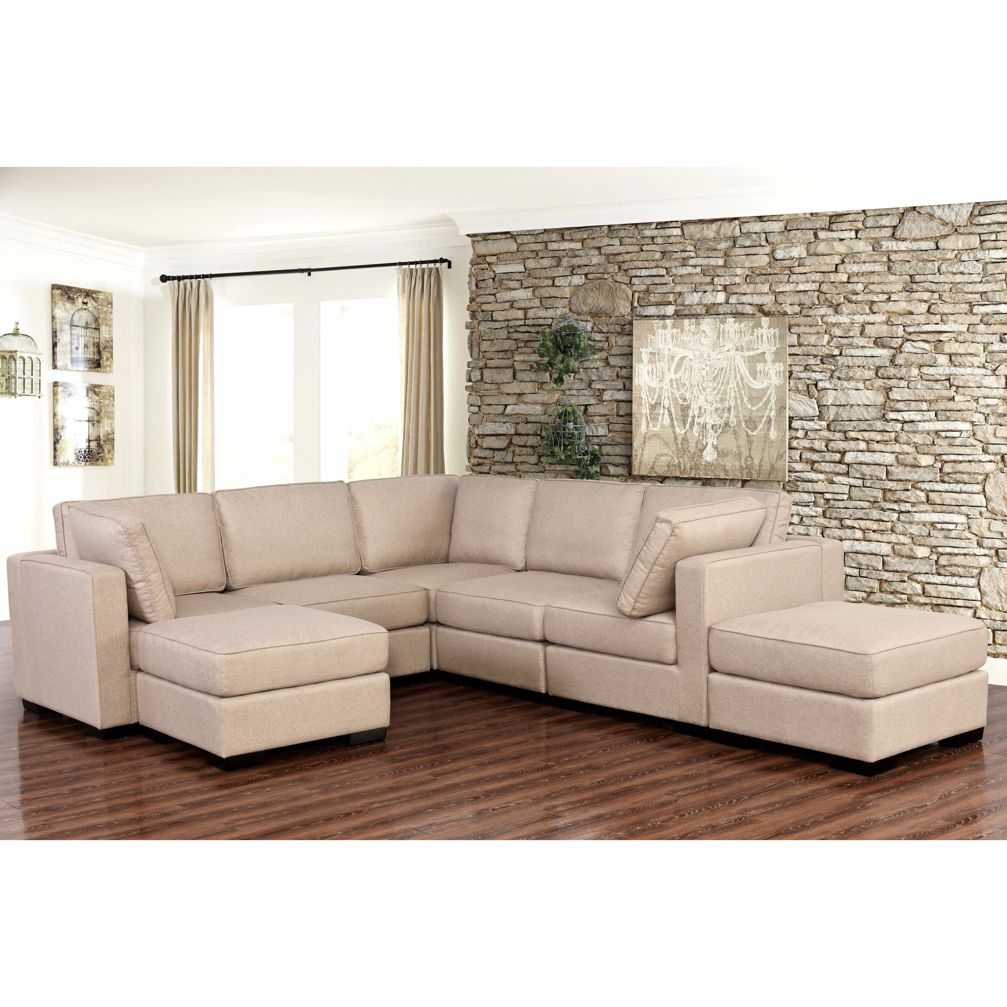 Well Known Harper Down 3 Piece Sectionals Intended For Shop Abbyson Harper Fabric Modular 7 Piece Sectional – Free Shipping (View 2 of 20)