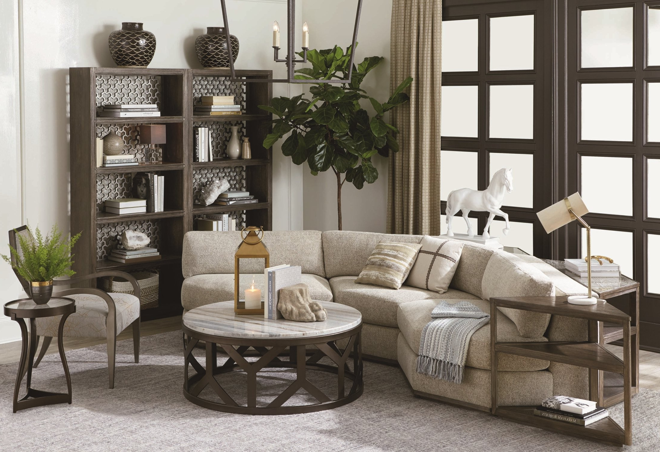 Well Known Harper Down 3 Piece Sectionals With Geode Medium Oak Diamond 3 Piece Sectional From Art (View 8 of 20)