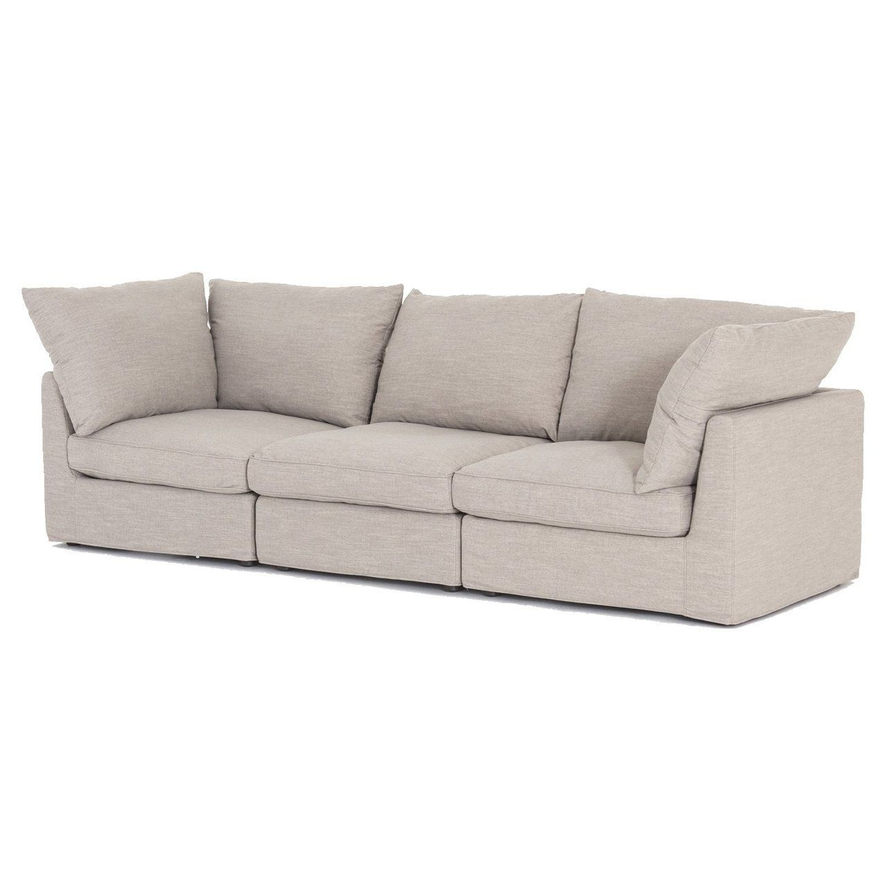 Well Known Harper Foam 3 Piece Sectional W/raf Chaise Inside Harper Foam 3 Piece Sectionals With Raf Chaise (View 18 of 20)