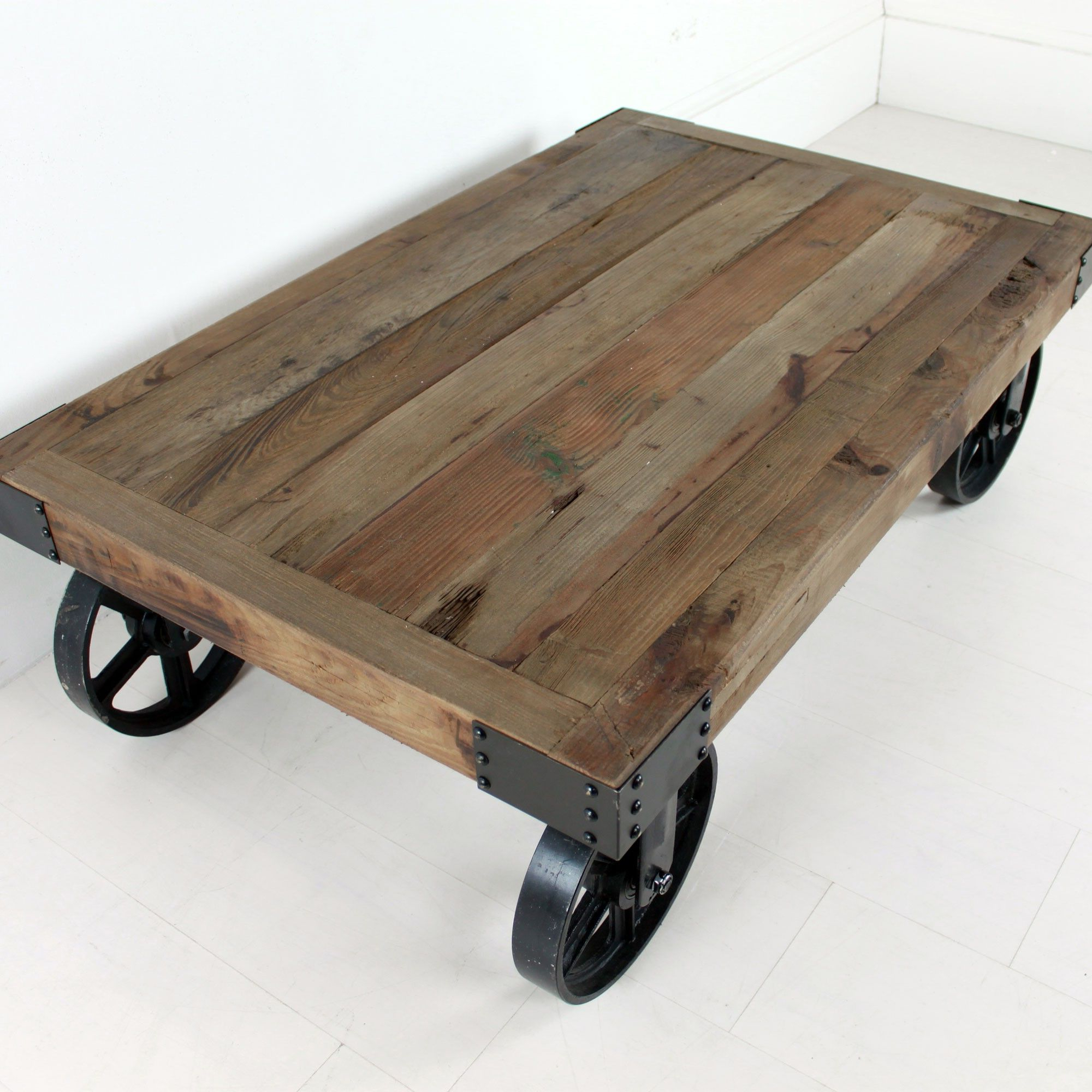 Well Known Industrial Coffee Table With Wheels (View 3 of 20)