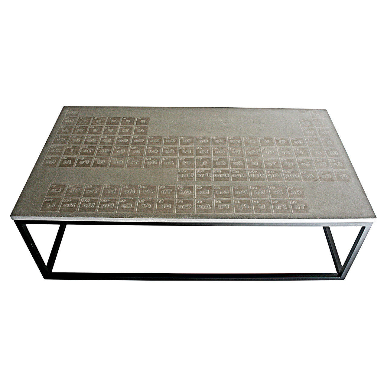 Well Known James De Wulf Periodic Coffee Table, Concrete And Steel For Sale At Within Rectangular Barbox Coffee Tables (Gallery 3 of 20)