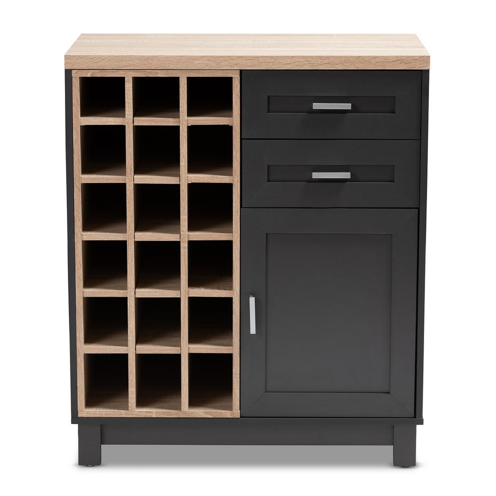 Well Known Jigsaw Refinement Sideboards Pertaining To Simpli Home Avalon 12 Bottle Tobacco Brown Bar Cabinet Axcava (View 19 of 20)