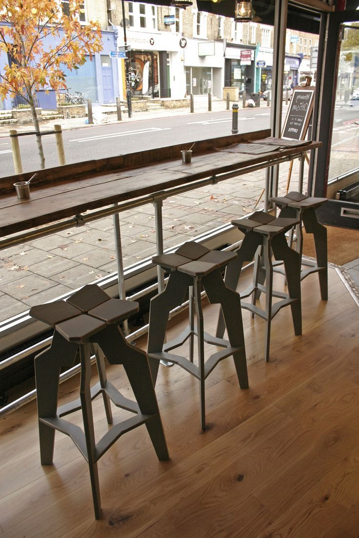 Well Known Khacha Coffee Tables Inside Rustic Wood Flooring Design And Metal Bar Stool Coffee Shop Design (Gallery 7 of 20)