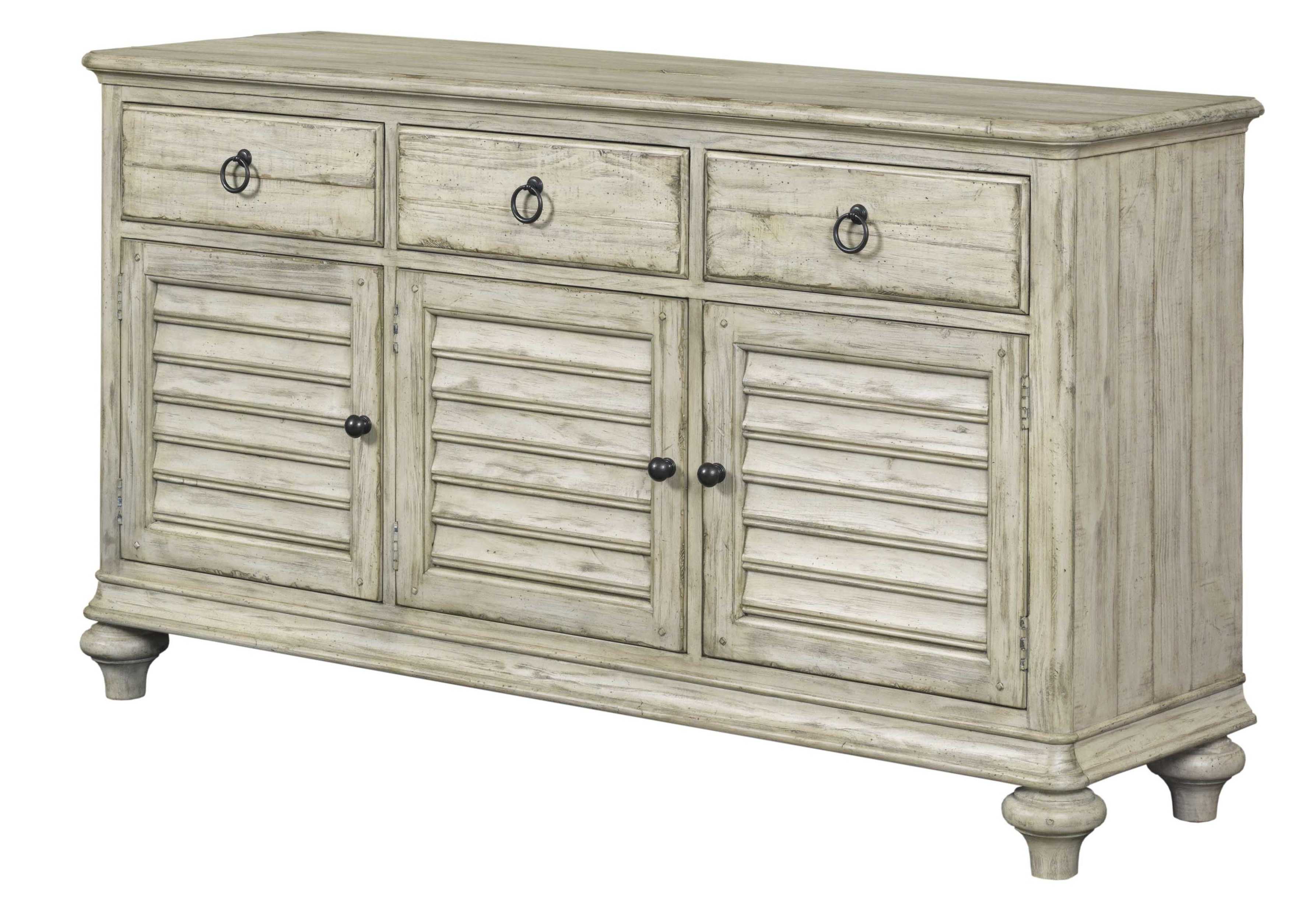 Well Known Kincaid Furniture Weatherford 75 075 Hastings Buffet With 3 Drawers In Aged Pine 3 Drawer 2 Door Sideboards (View 6 of 20)