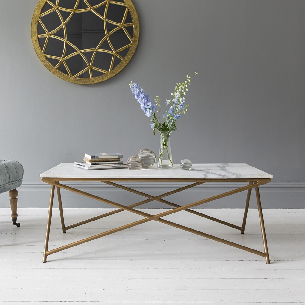 Well Known Large Slab Marble Coffee Tables With Antiqued Silver Base Pertaining To Choose The Best White Marble Coffee Table — The Home Redesign (View 19 of 20)