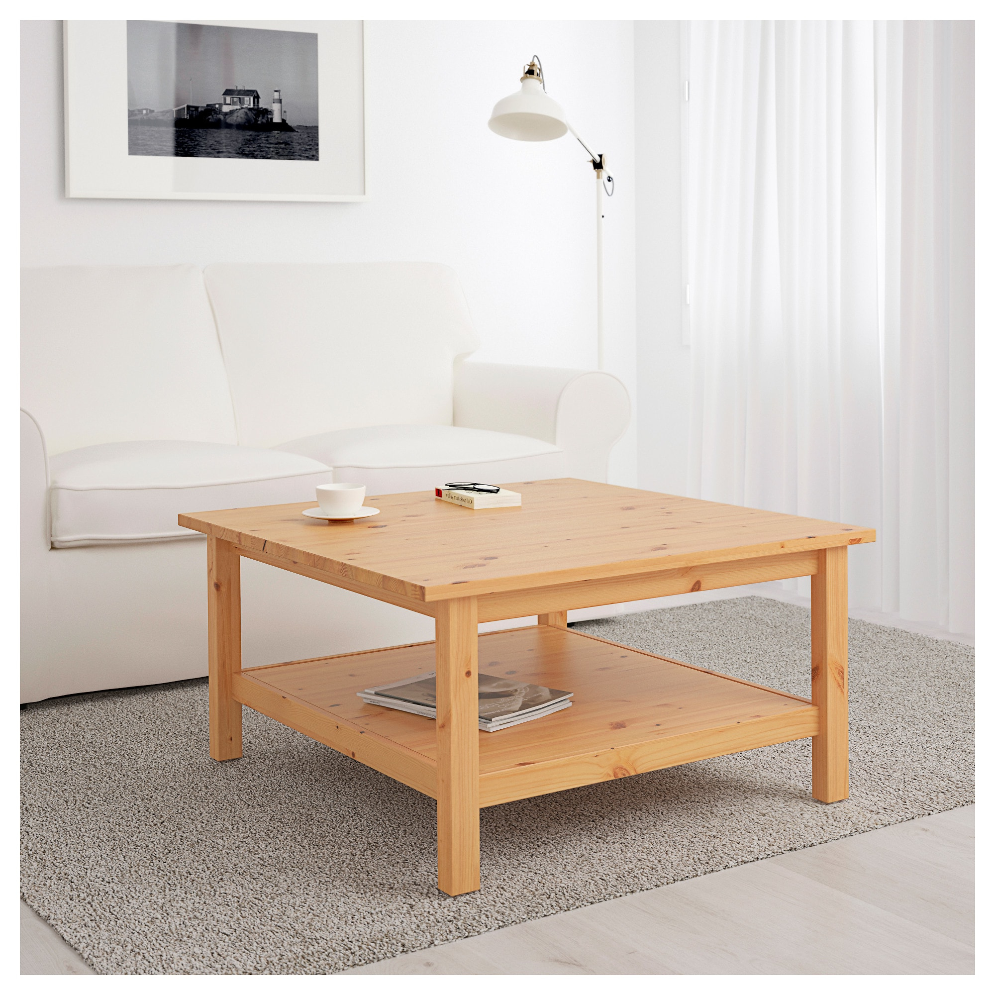Well Known Light Natural Coffee Tables In Hemnes Coffee Table Light Brown 90 X 90 Cm – Ikea (View 19 of 20)