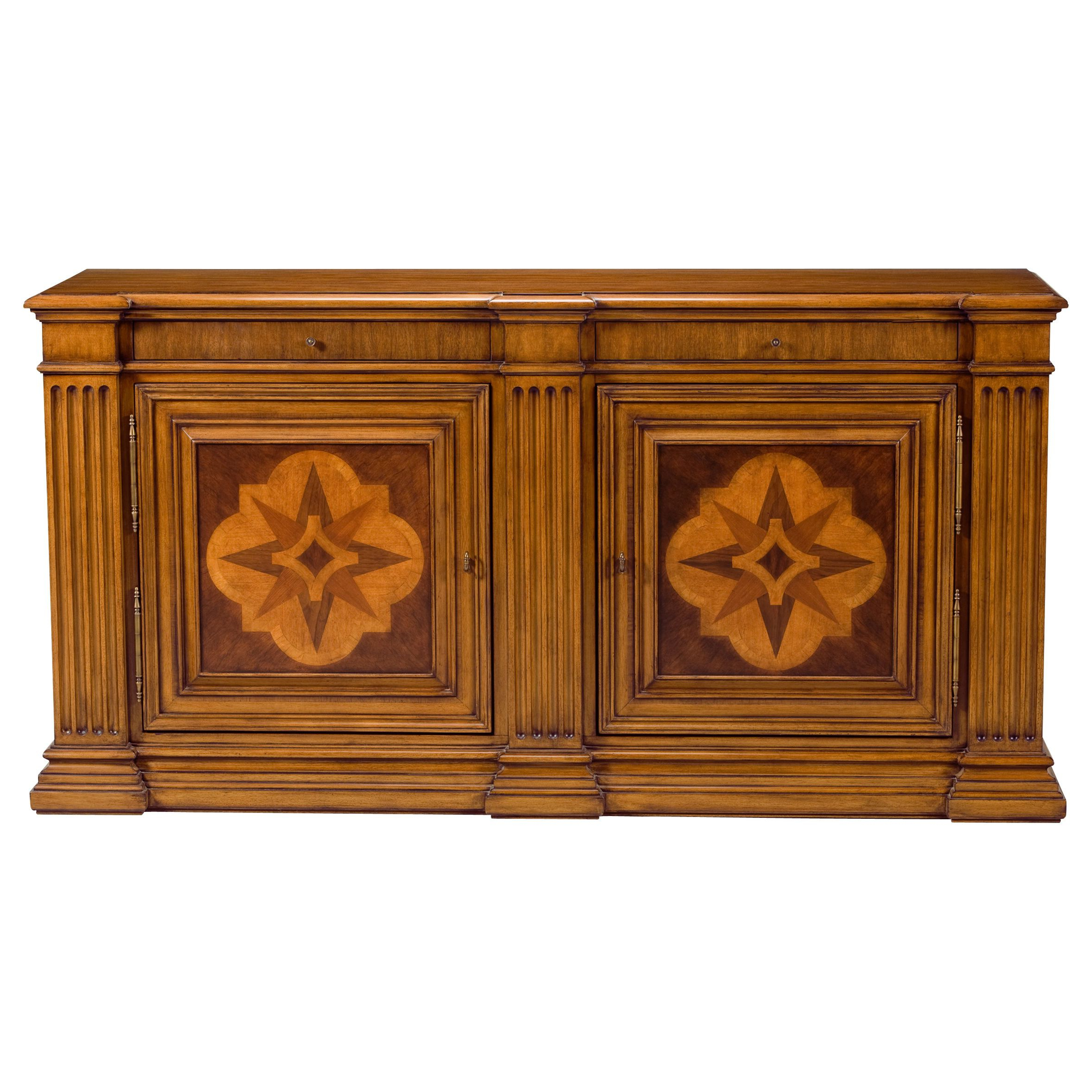 Well Known Lombardy Marquetry Sideboard – Ethan Allen Us (Gallery 7 of 20)