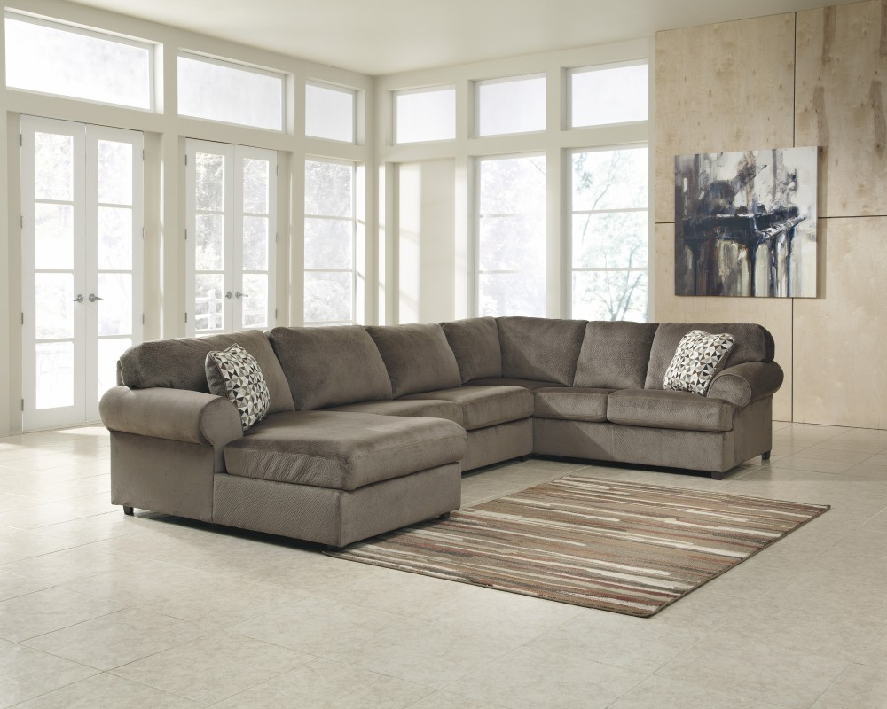 Well Known Lucy Grey 2 Piece Sectionals With Laf Chaise Regarding Jessa Place – Dune 3 Pc (View 19 of 20)
