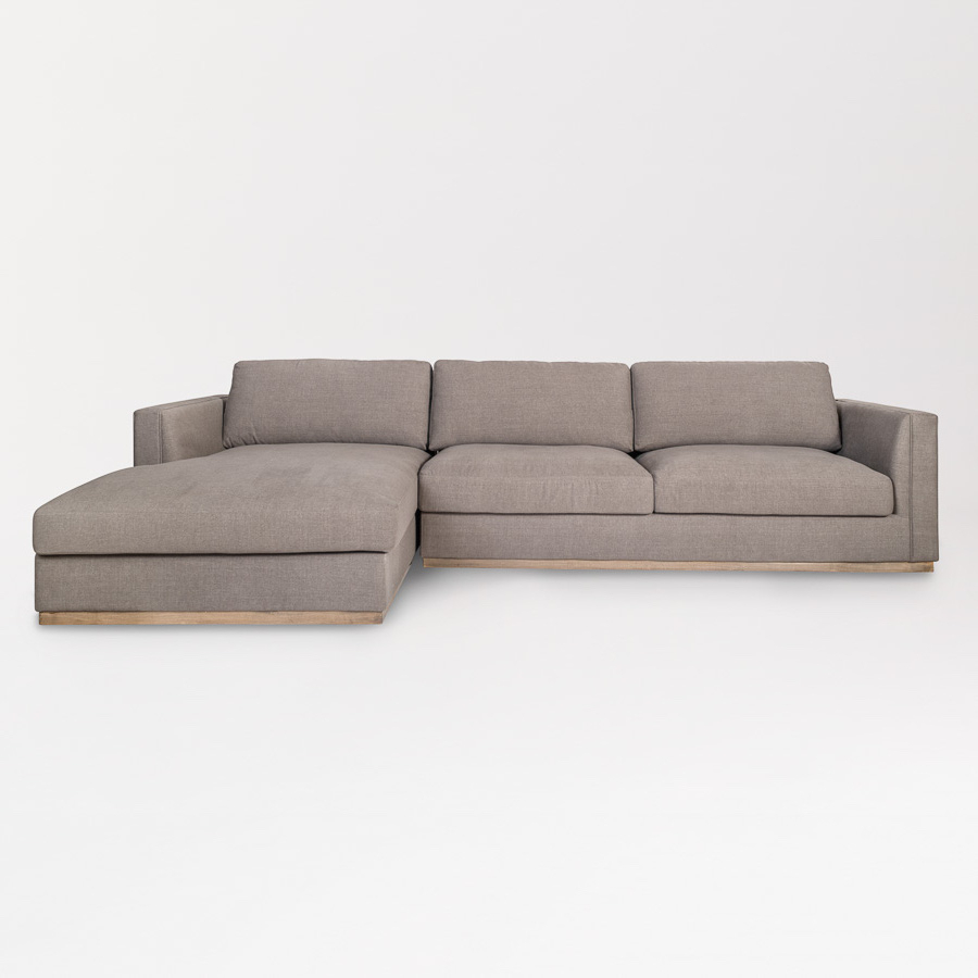 Well Known Maddox Sectional – Right Facing Chaise (raf) – Alder & Tweed Furniture Intended For Alder 4 Piece Sectionals (View 12 of 20)