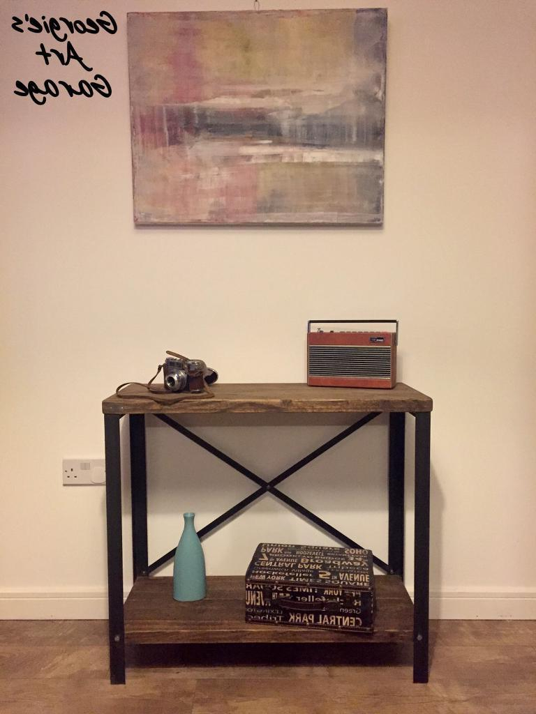 Well Known Metal Framed Reclaimed Wood Sideboards For Unique Handmade Reclaimed Wood And Steel Frame Console/side Table (Gallery 16 of 20)