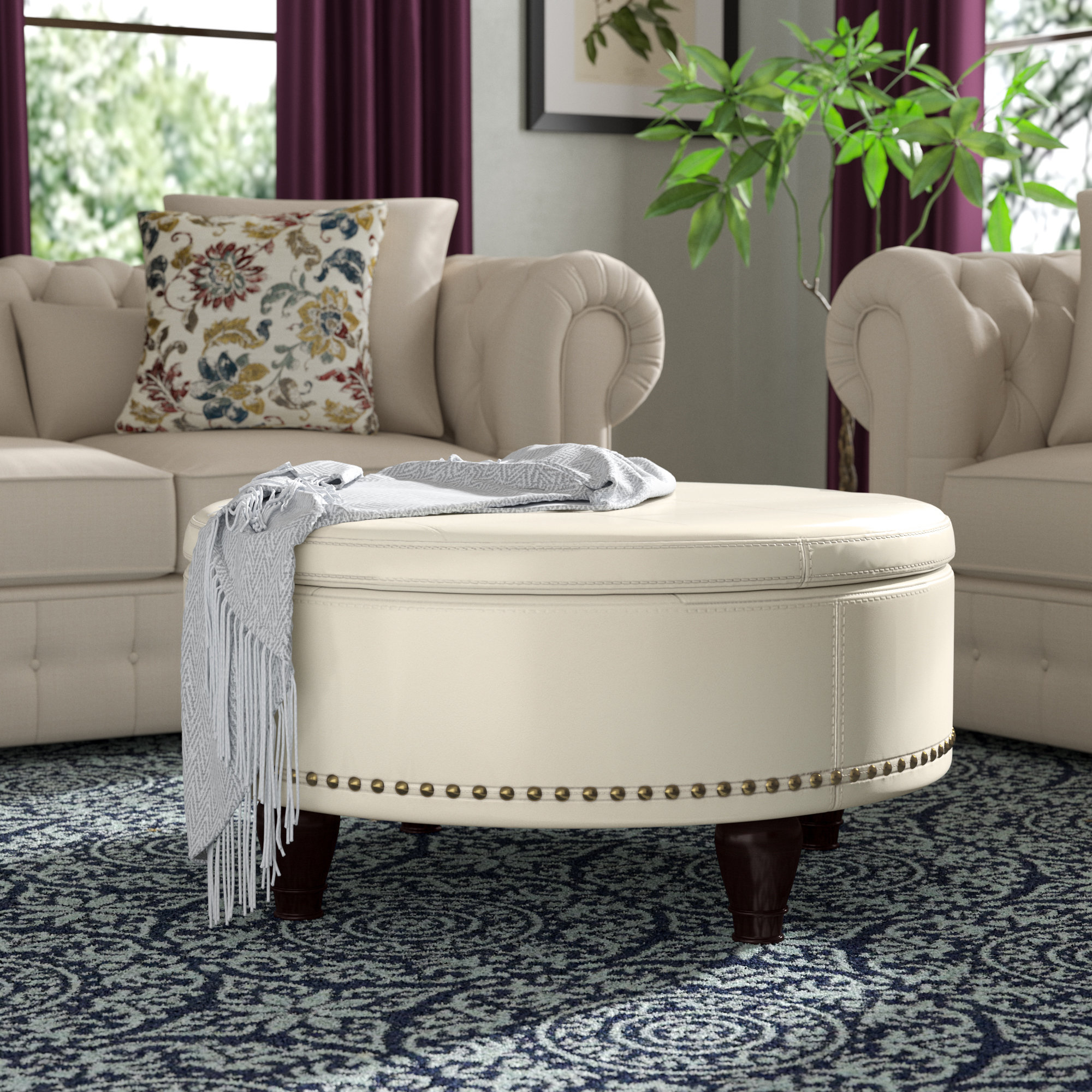 Well Known Mill Large Leather Coffee Tables In Darby Home Co Ellen Storage Ottoman & Reviews (View 20 of 20)