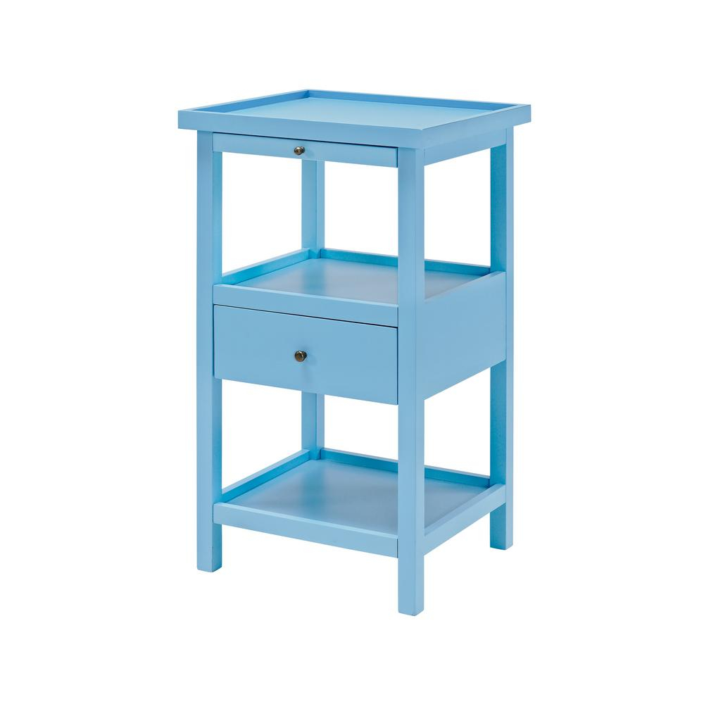 Well Known Palmer Storage Cocktail Tables Pertaining To Powell Palmer Ocean Blue Table With Shelf 16A8255B – The Home Depot (View 20 of 20)