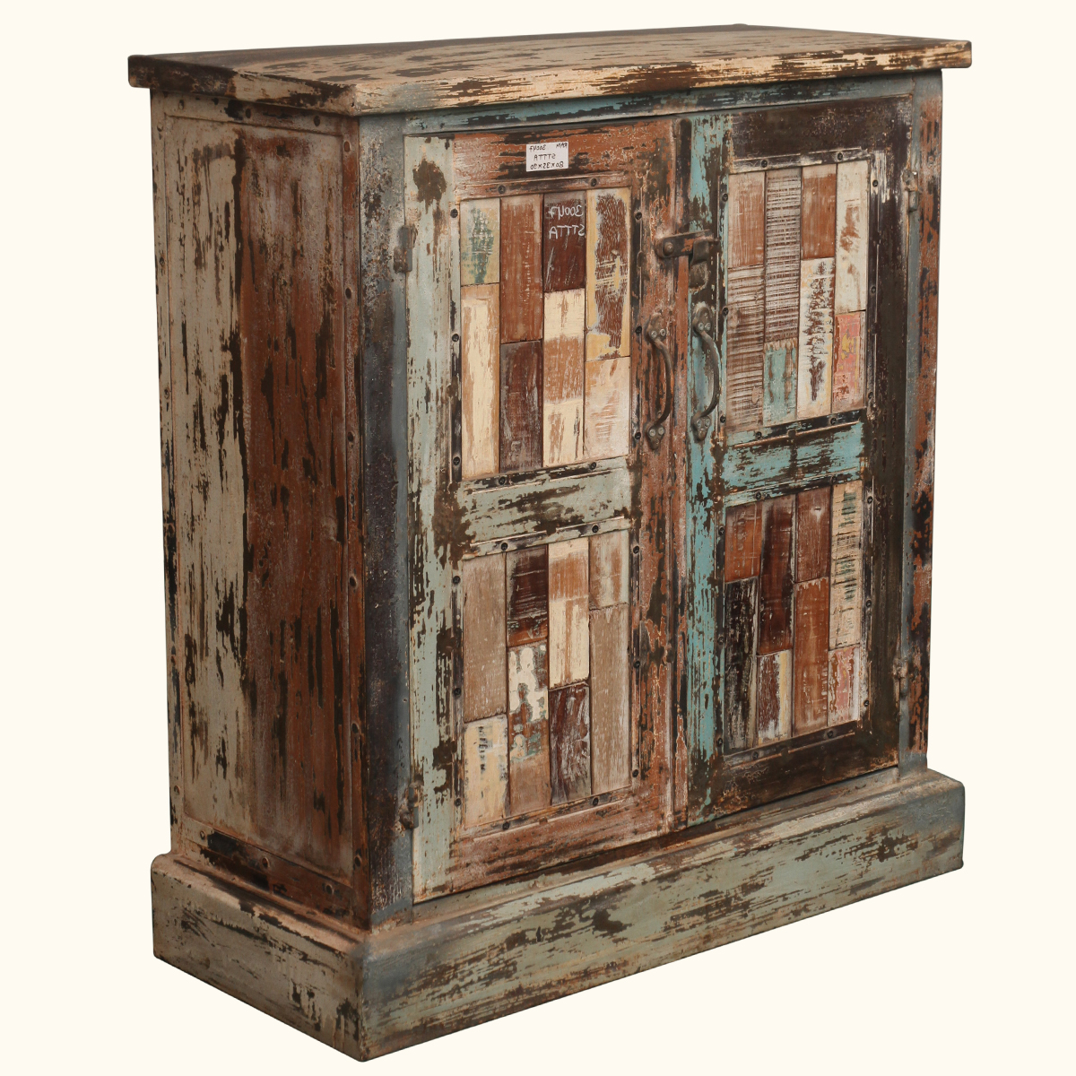 Well Known Reclaimed 3 Drawer Icebox Sideboards Intended For Grandpa39s Attic Distressed Reclaimed Wood 60quot Sideboard Wood (View 10 of 20)