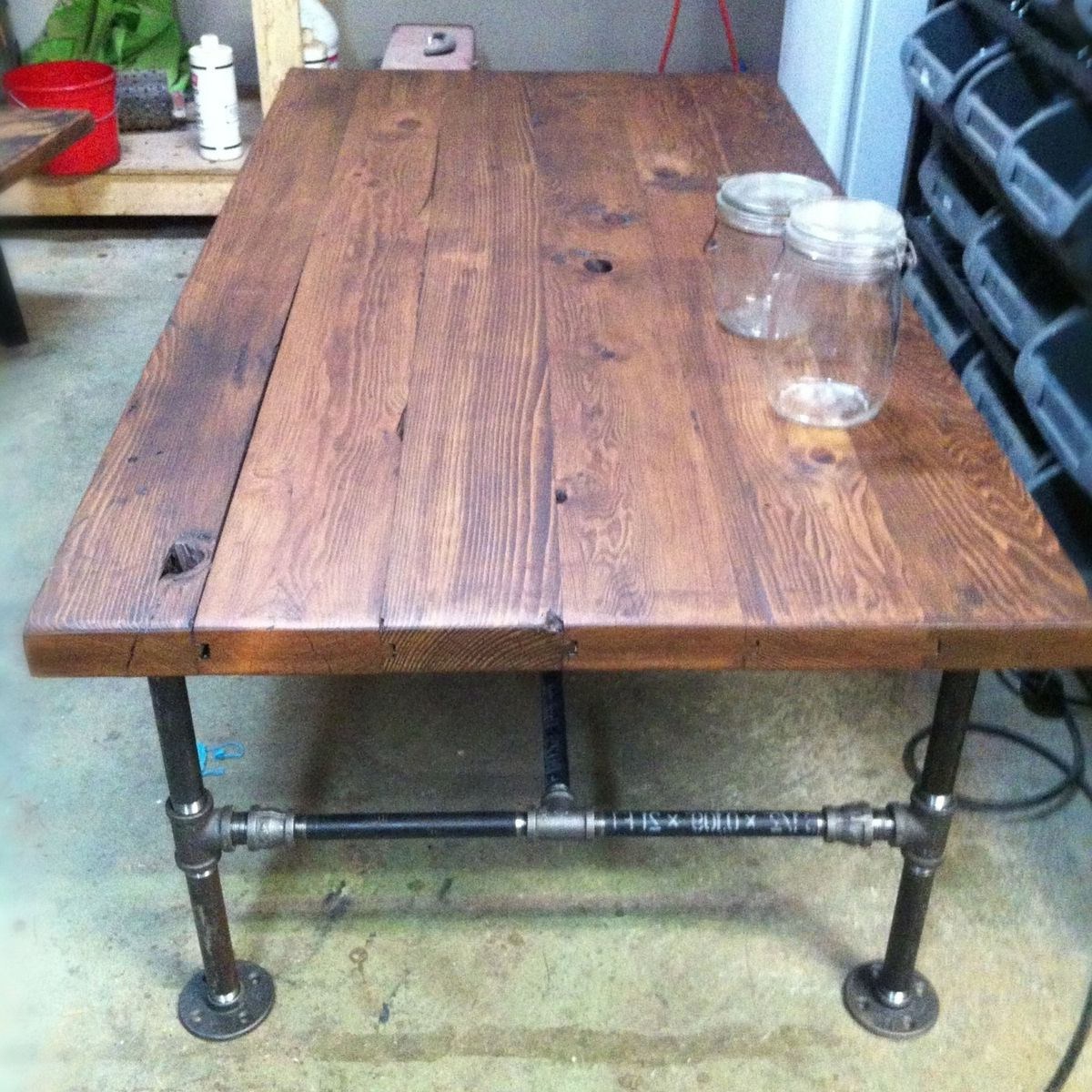 Well Known Reclaimed Elm Cast Iron Coffee Tables Pertaining To Iron Wood Coffee Table – Coffee Drinker (View 7 of 20)