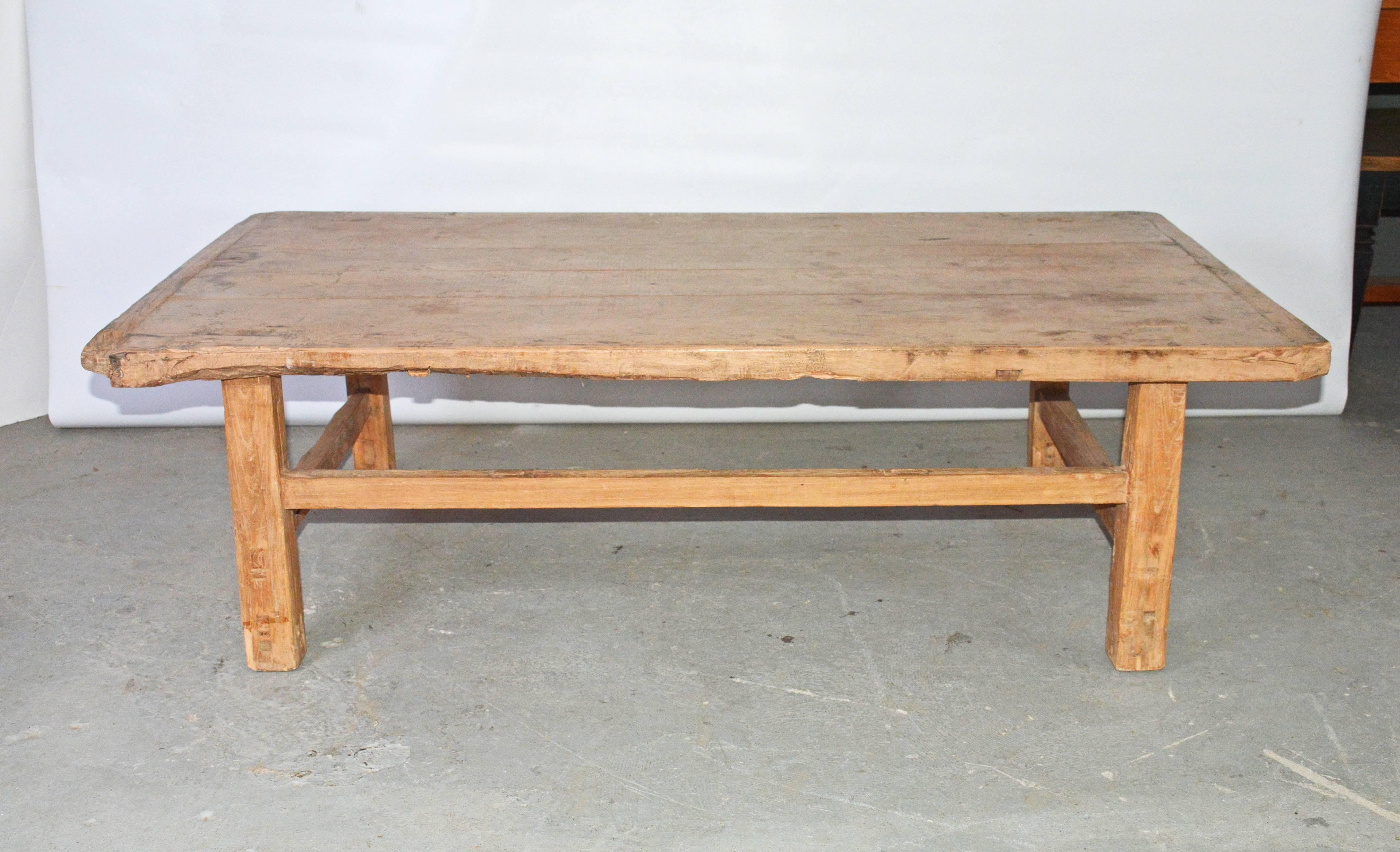 Well Known Rectangular Barbox Coffee Tables Throughout Rustic Teak Coffee Table At 1stdibs (View 20 of 20)