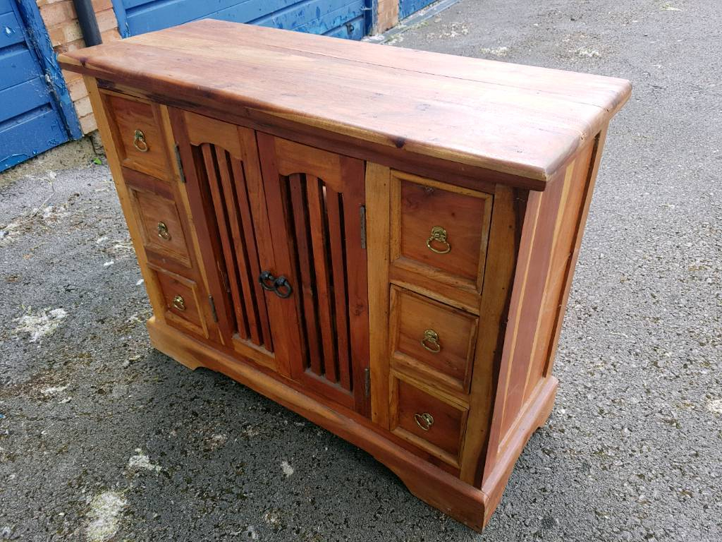 Well Known Sheesham Indian Rosewood Sideboard In Very Good Condition – Can In Leven Wine Sideboards (View 11 of 20)