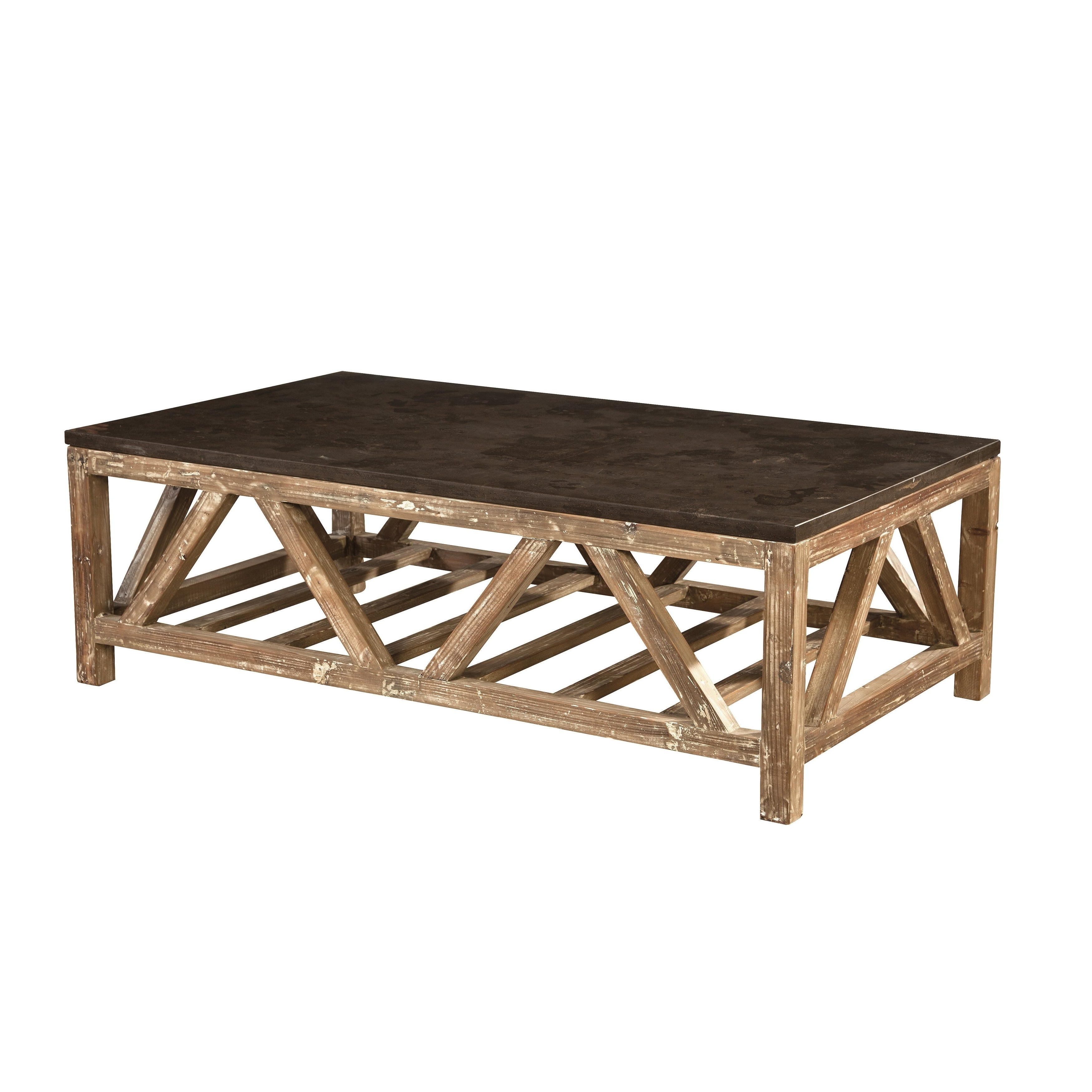 Well Known Shop Cyprian Reclaimed Fir And Bluestone Coffee Table – Free With Bluestone Rustic Black Coffee Tables (View 3 of 20)