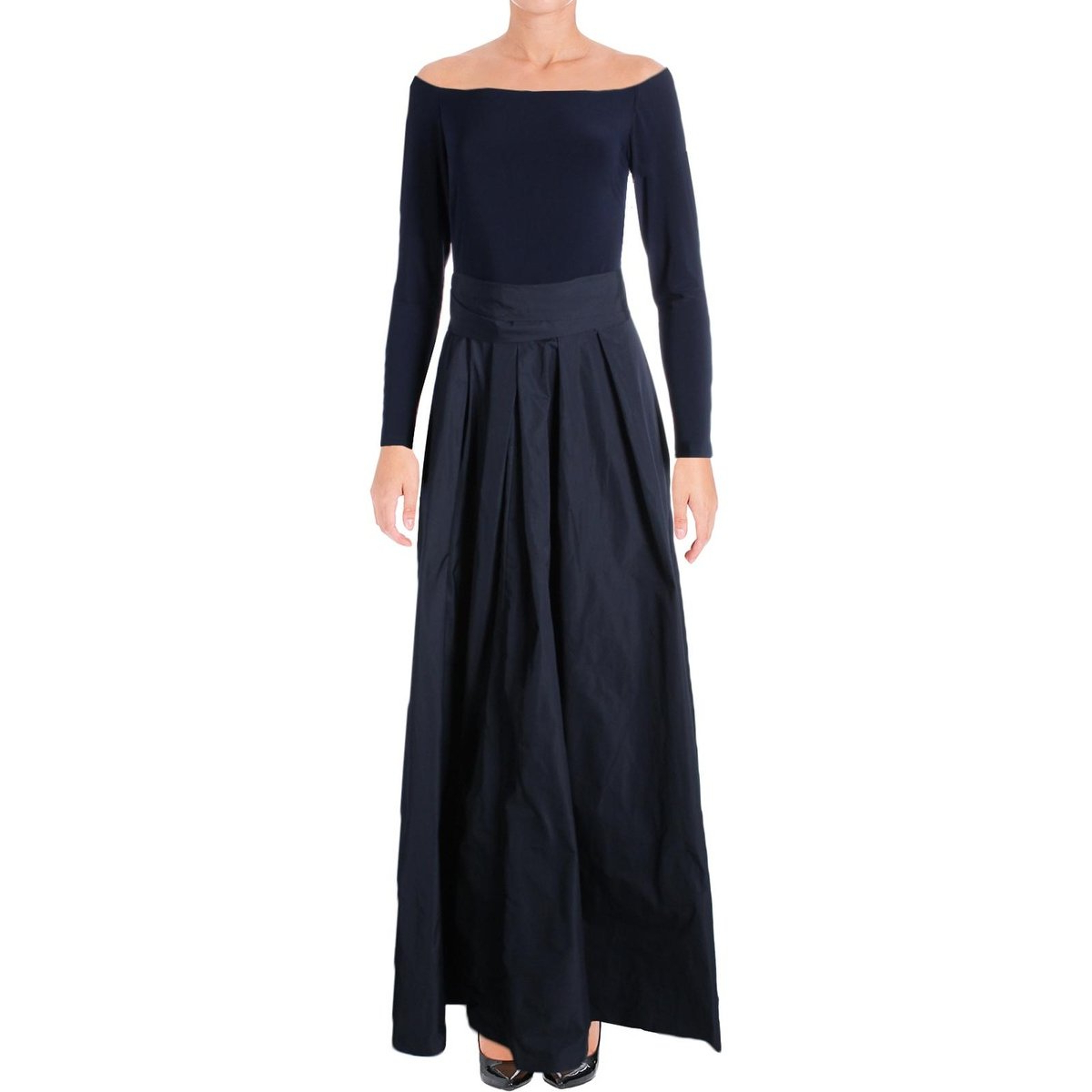 Well Known Shop Lauren Ralph Lauren Womens Jacene Evening Dress Tie Waist Navy Pertaining To Jacen Cocktail Tables (View 18 of 20)