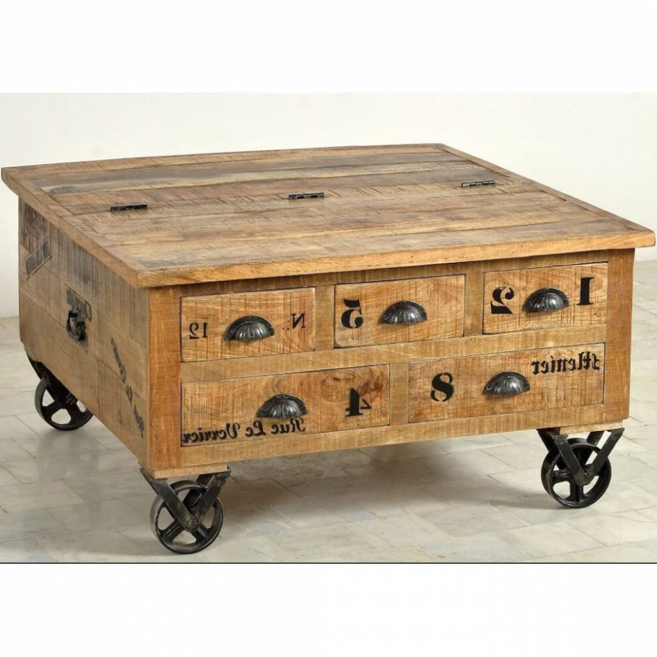 Well Known Sliced Trunk Coffee Tables Within Salient Storage Wood Trunk End Table Coffee Table Rectangular Trunk (View 11 of 20)