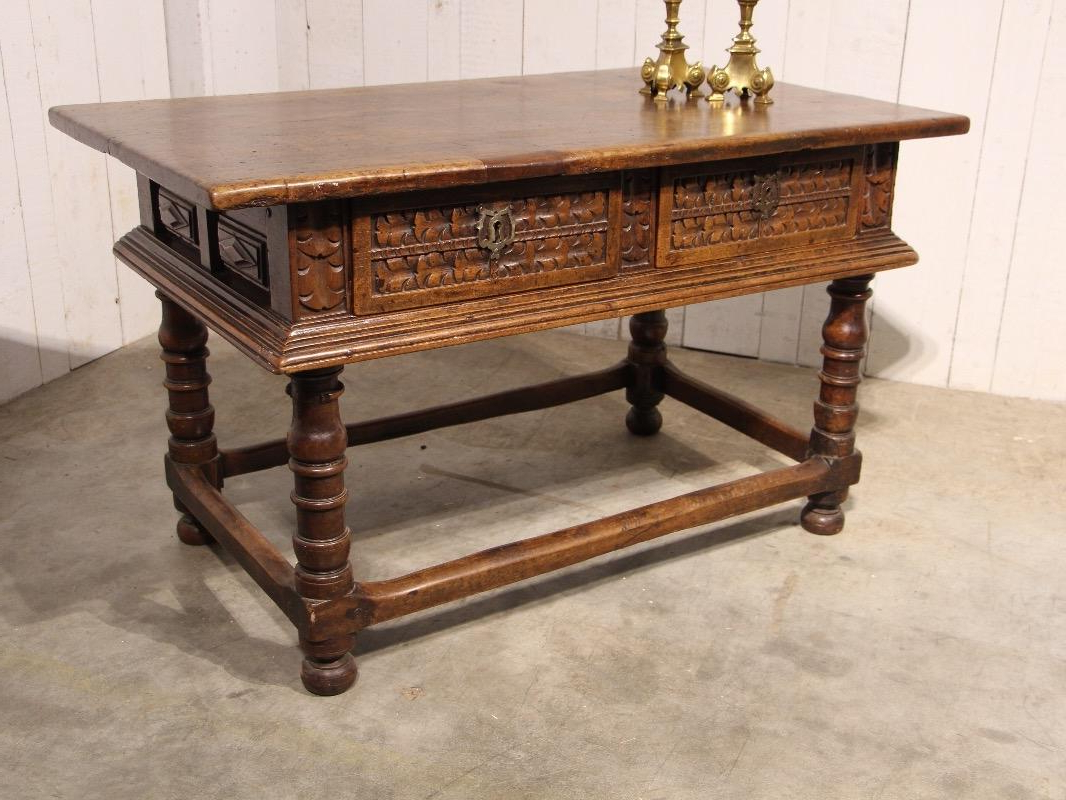 Well Known Spanish Coffee Tables Pertaining To Antique Walnut Spanish Table – Tables – European Antique Warehouse (View 20 of 20)