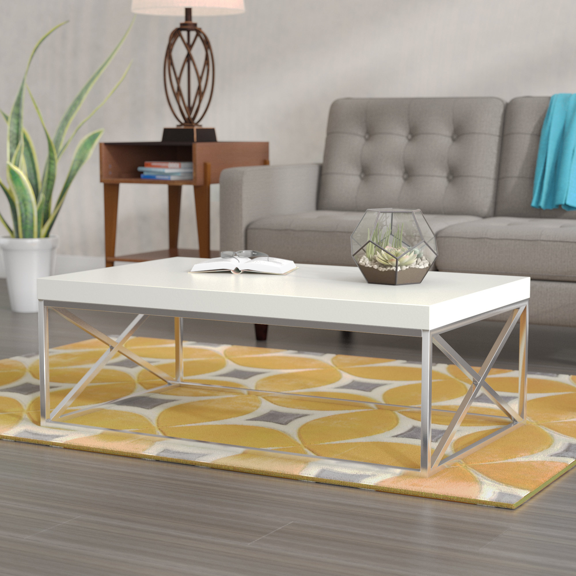 Well Known Stack Hi Gloss Wood Coffee Tables Within Wrought Studio Lexington Coffee Table & Reviews (View 4 of 20)