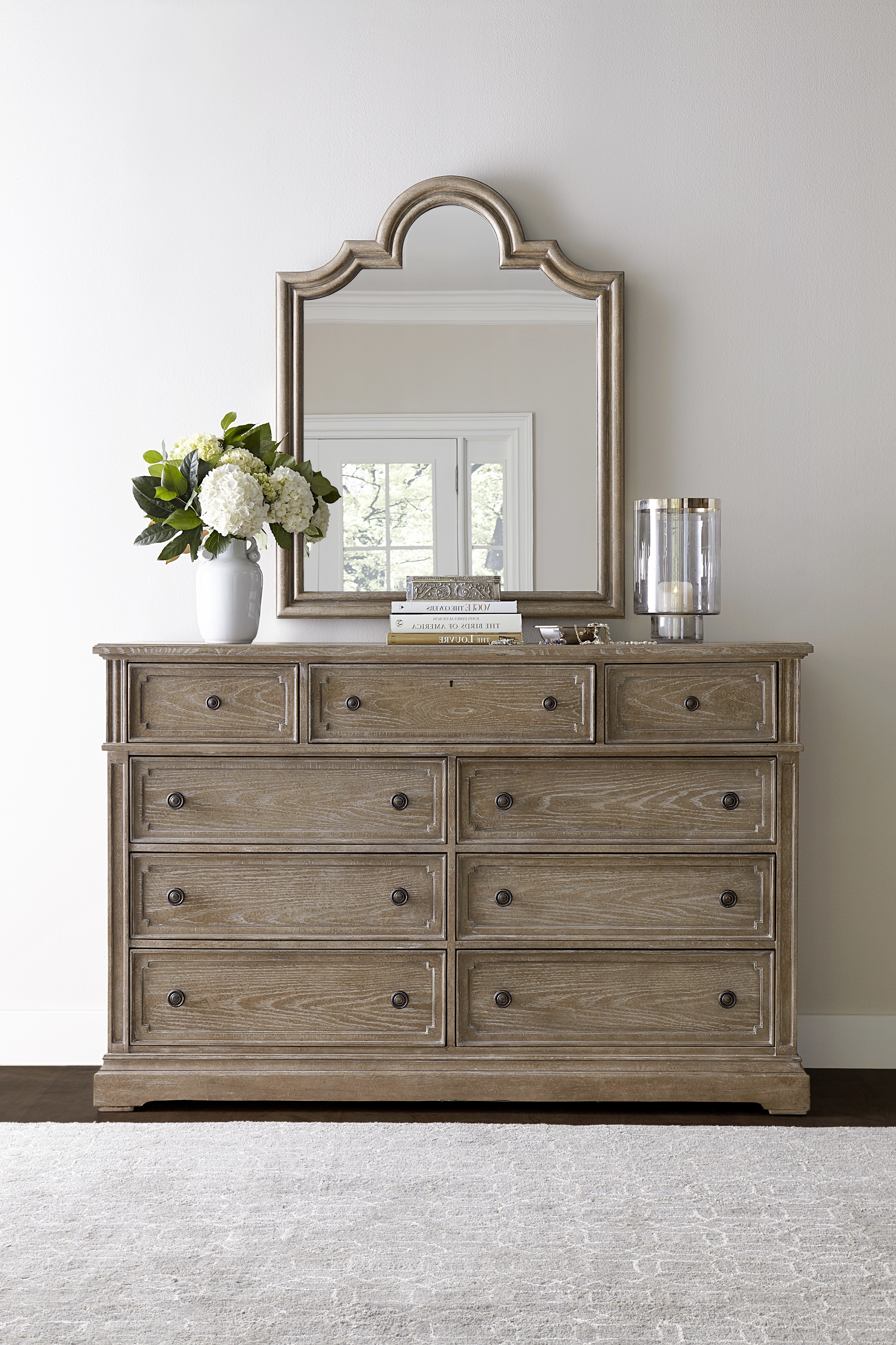 Well Known Stanley Wethersfield Estate 9 Drawer Dresser With Mirror & Reviews With Regard To Helms Sideboards (View 4 of 20)
