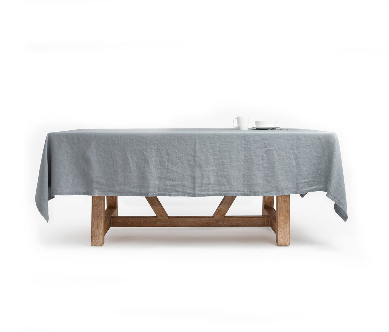 "Well Known Stratus Cocktail Tables Throughout Johanna, 70""x124"" Table Cloth W/ Solid Hem, Stratus Gray – Harbour (Gallery 9 of 20)"