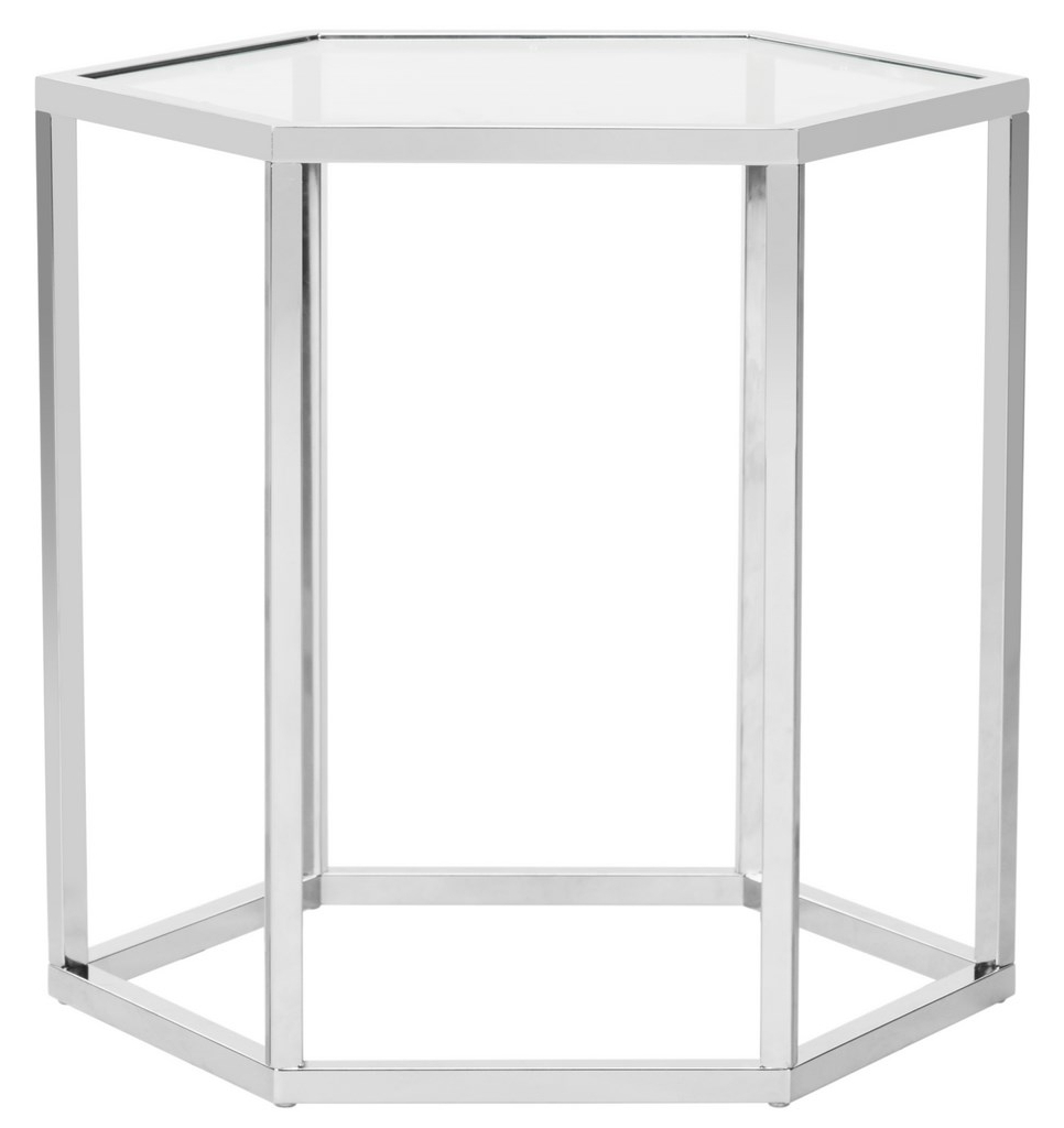Well Known Teagan Glass End Table – Safavieh Inside Teagan Sideboards (Gallery 18 of 20)