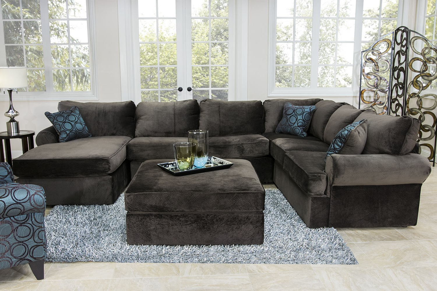 Well Known The Napa Chocolate Sectional Living Room Collection (Gallery 19 of 20)