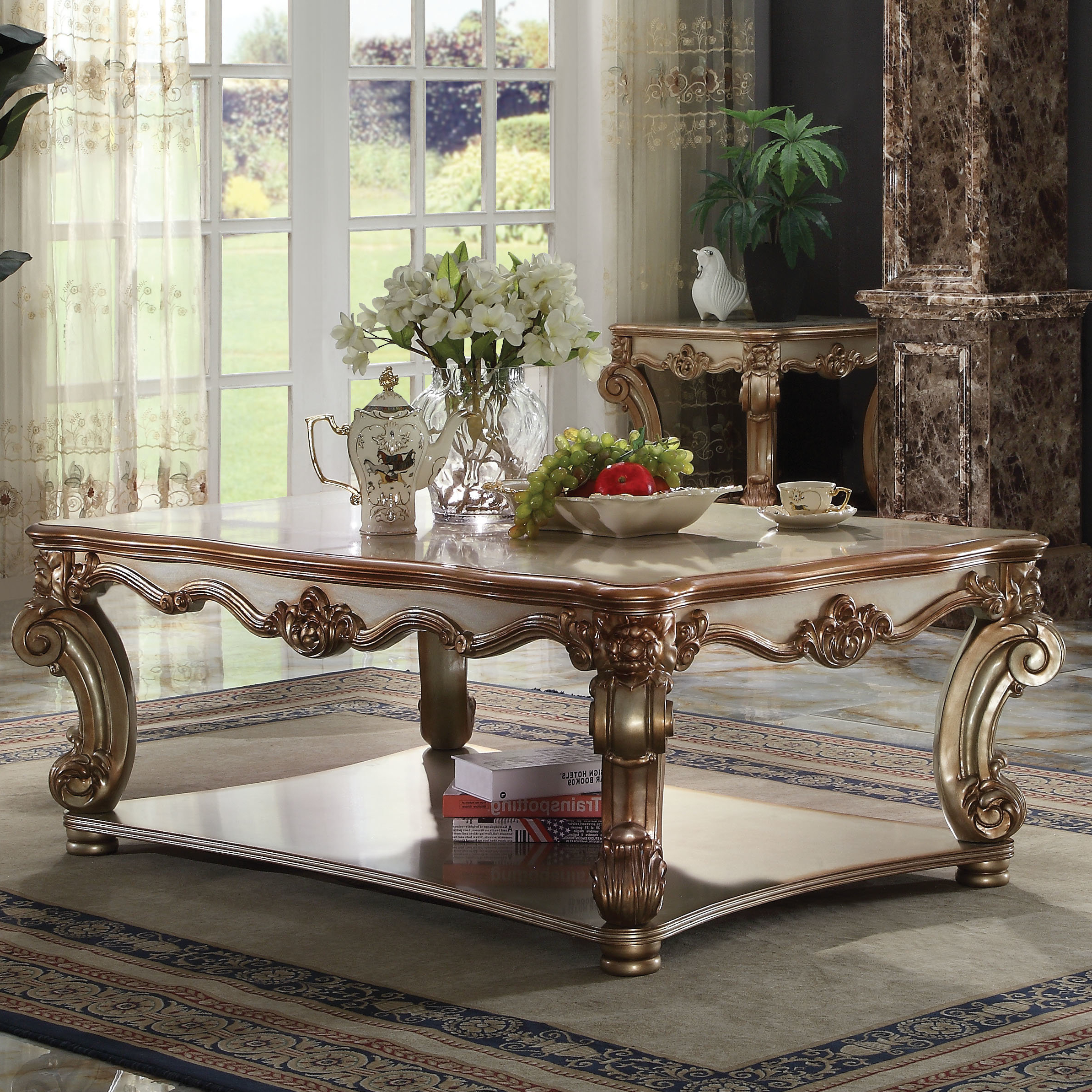 Well Known Traditional Coffee Tables Within Astoria Grand Welles Traditional Coffee Table (Gallery 8 of 20)