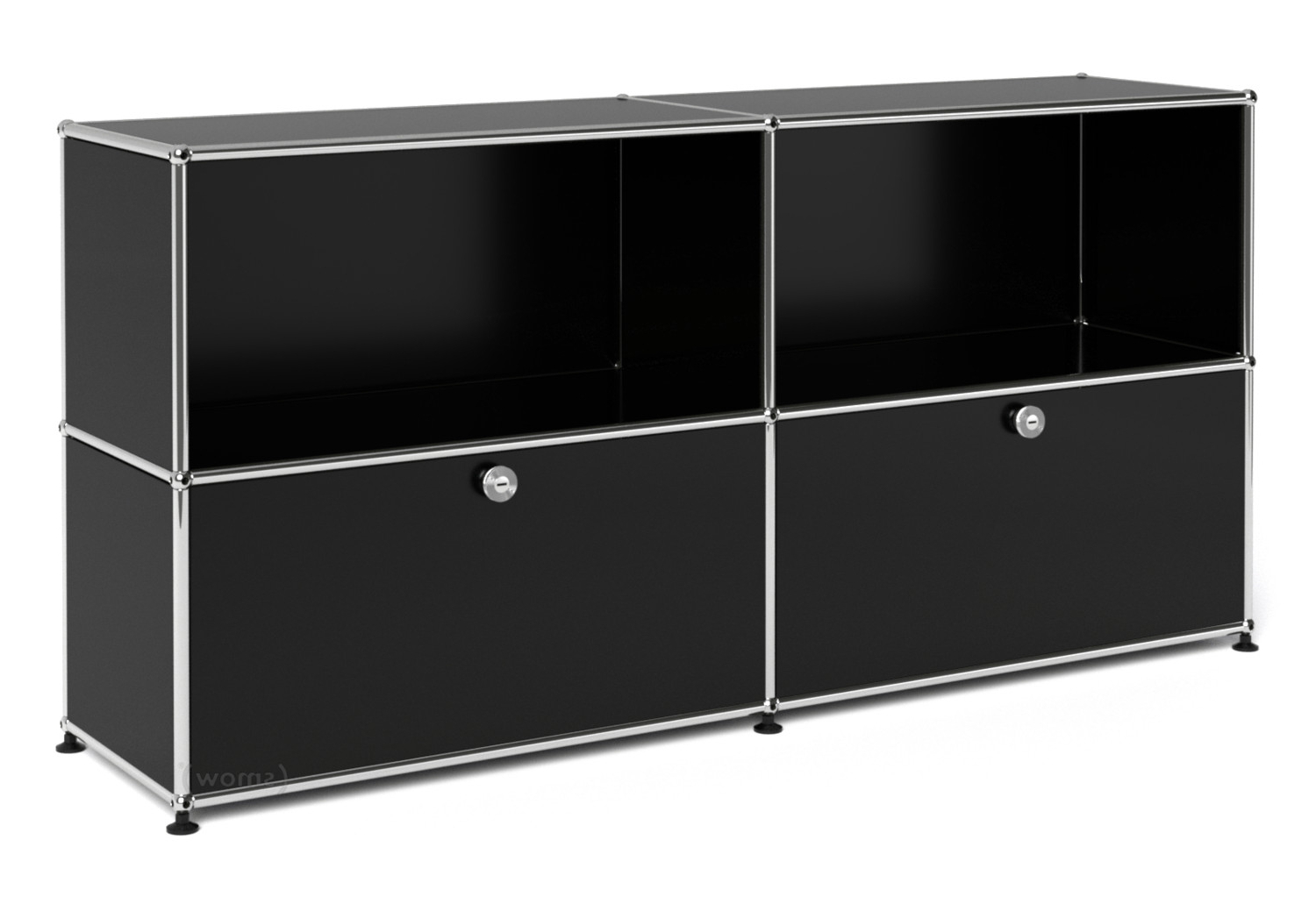 Well Known Usm Haller Sideboard L With 2 Drop Down Doorsfritz Haller & Paul Pertaining To Square Brass 4 Door Sideboards (View 20 of 20)