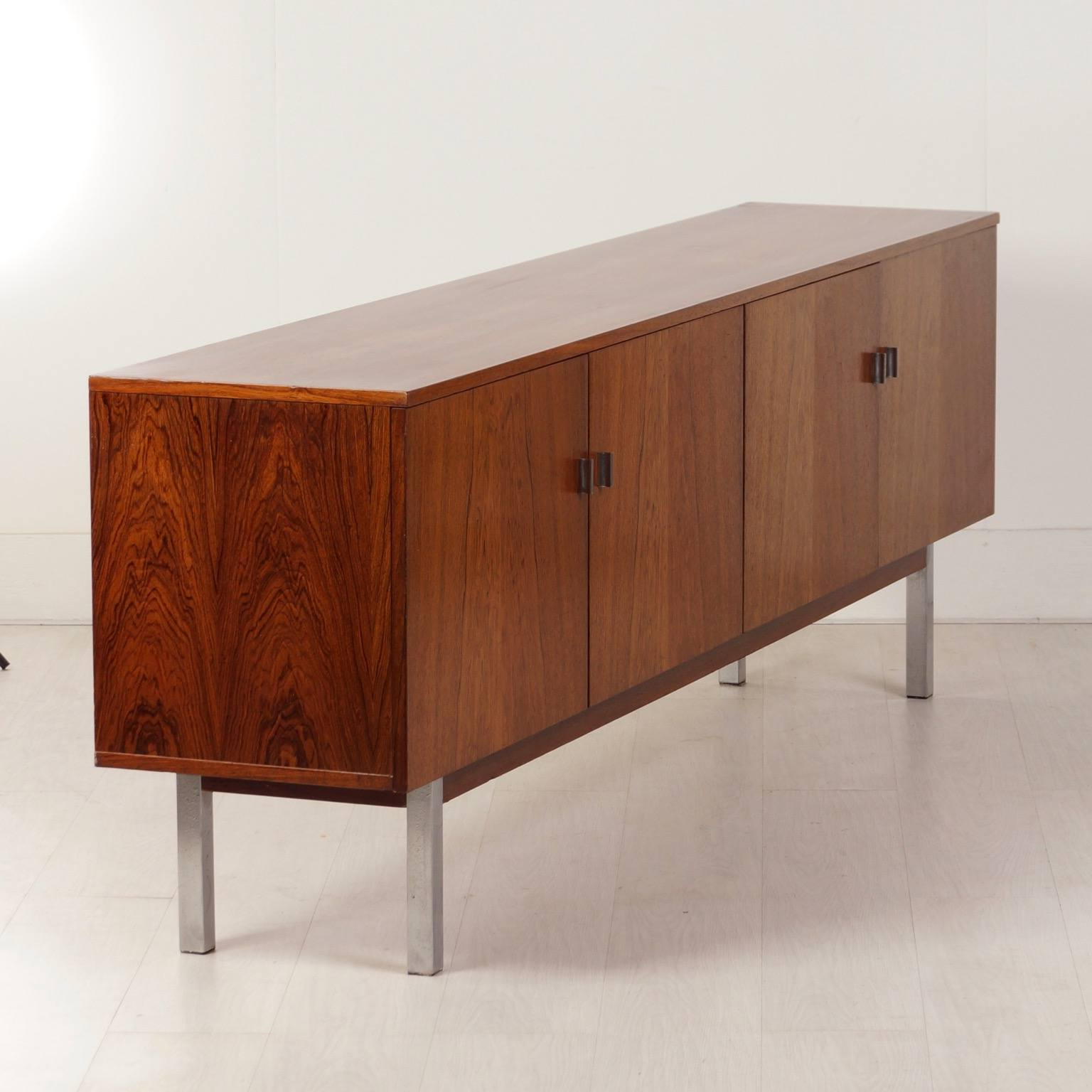 Well Known Vintage Brown Textured Sideboards Within Vintage Sideboard Made Of Rosewood, 1960s – Ztijl Design (View 5 of 20)