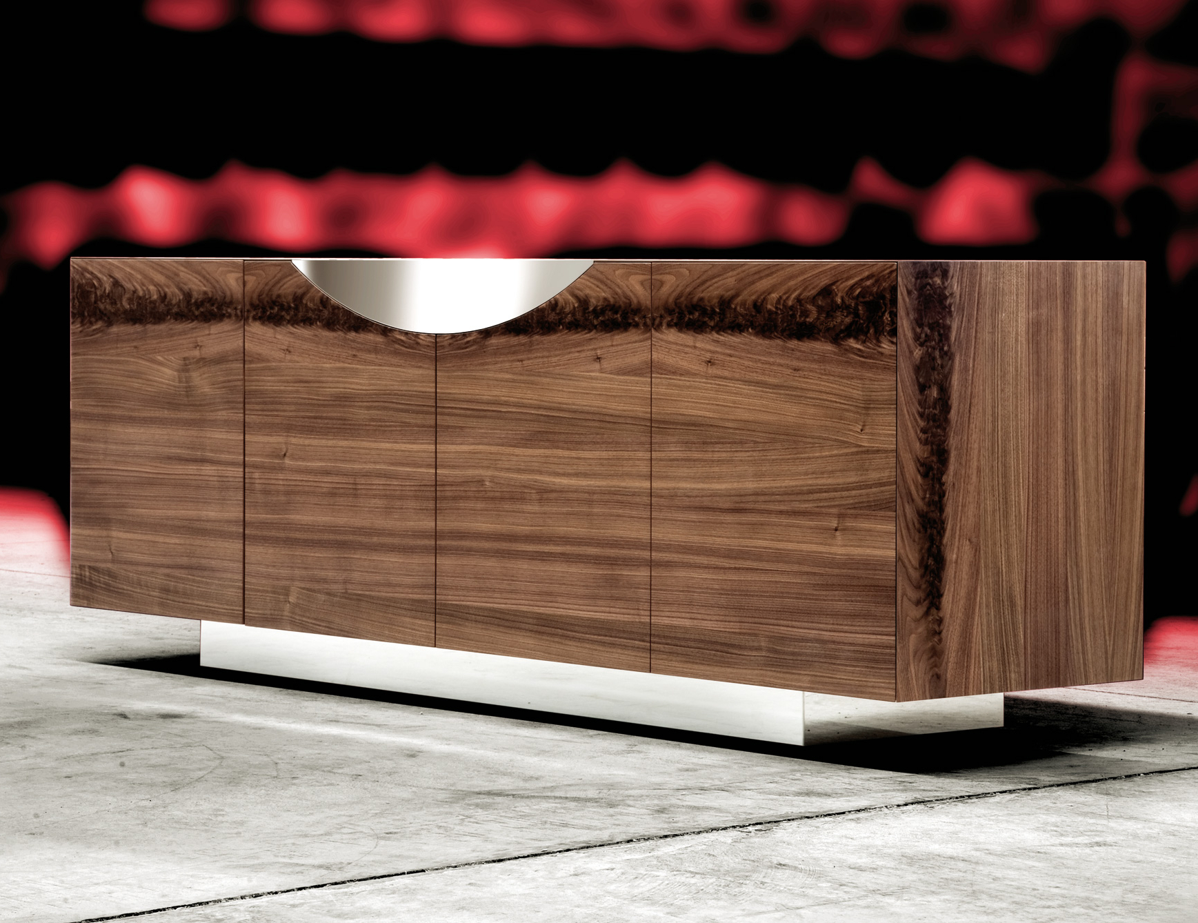 Well Known Walnut Finish Contempo Sideboards For Nella Vetrina Costantini Pietro Edge 9232 Modern Walnut Sideboard (View 18 of 20)