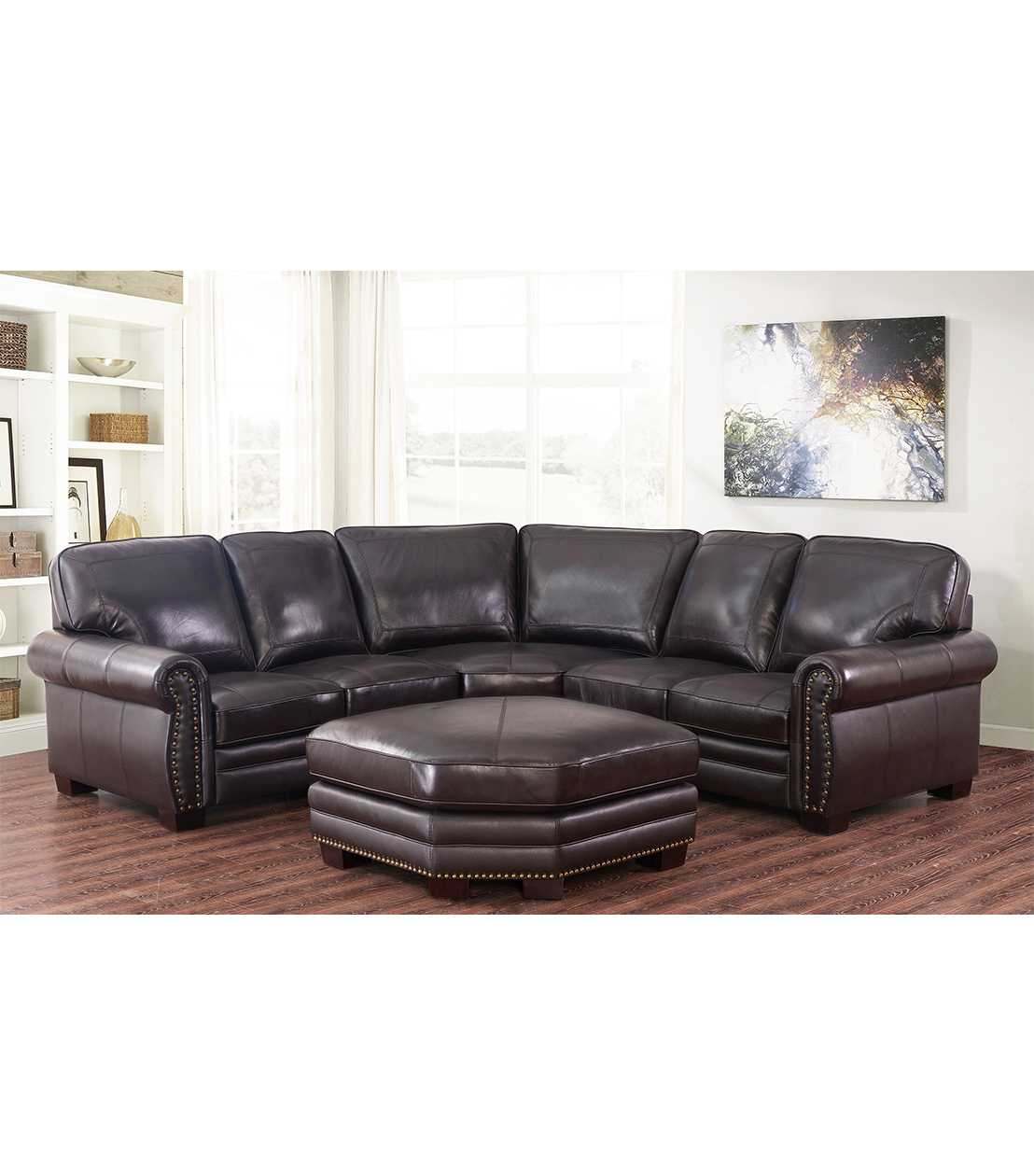 Well Liked Adeline 3 Piece Sectionals Inside Sectionals : Adeline Leather Sectional (View 3 of 20)