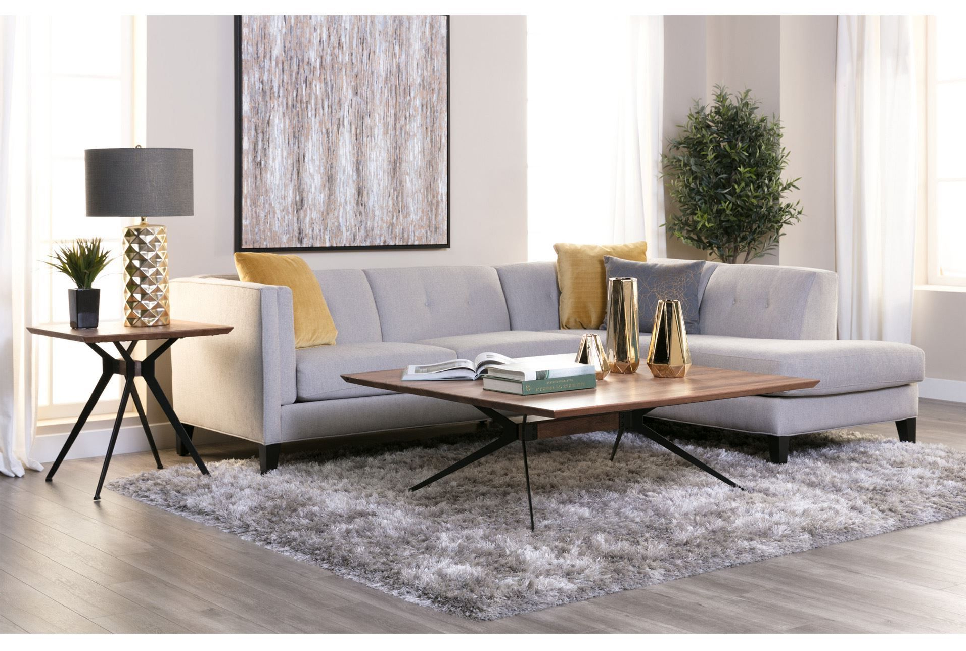 Well Liked Avery 2 Piece Sectional W/laf Armless Chaise (View 3 of 20)