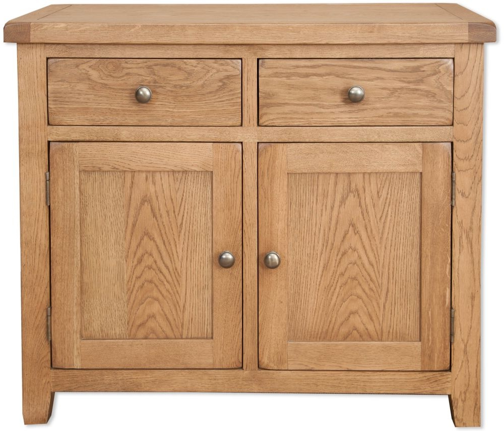Well Liked Bayamo Country Oak 2 Door 2 Drawer Sideboard Inside 2 Drawer Sideboards (View 2 of 20)