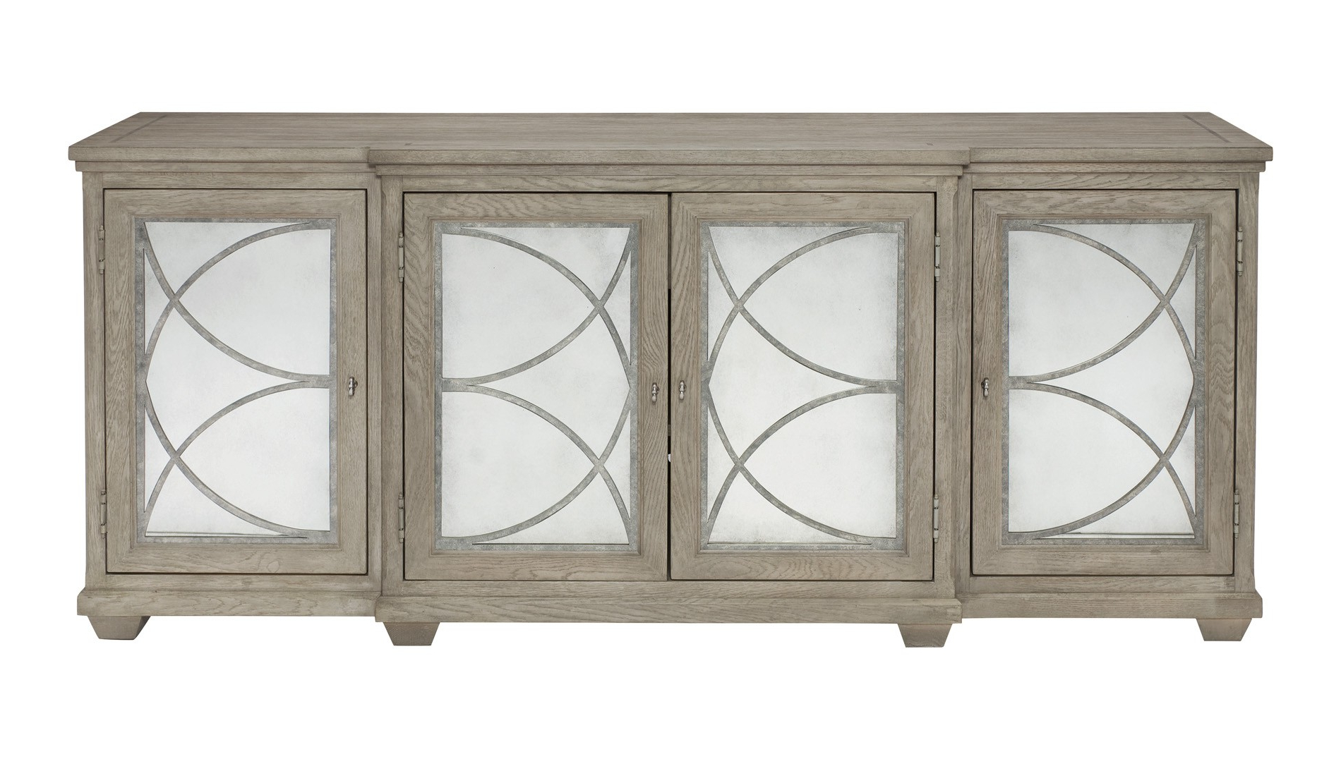 Well Liked Bernhardt, Marquesa Sideboard – Antique Mirror, Buy Online At Luxdeco Intended For Aged Mirrored 4 Door Sideboards (Gallery 4 of 20)
