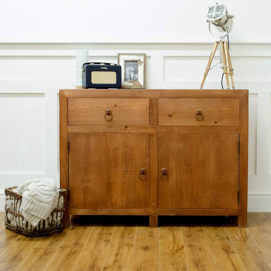 Well Liked Chunky Solid Wood Two Door Two Drawer Sideboardthe Orchard Within Natural South Pine Sideboards (View 19 of 20)