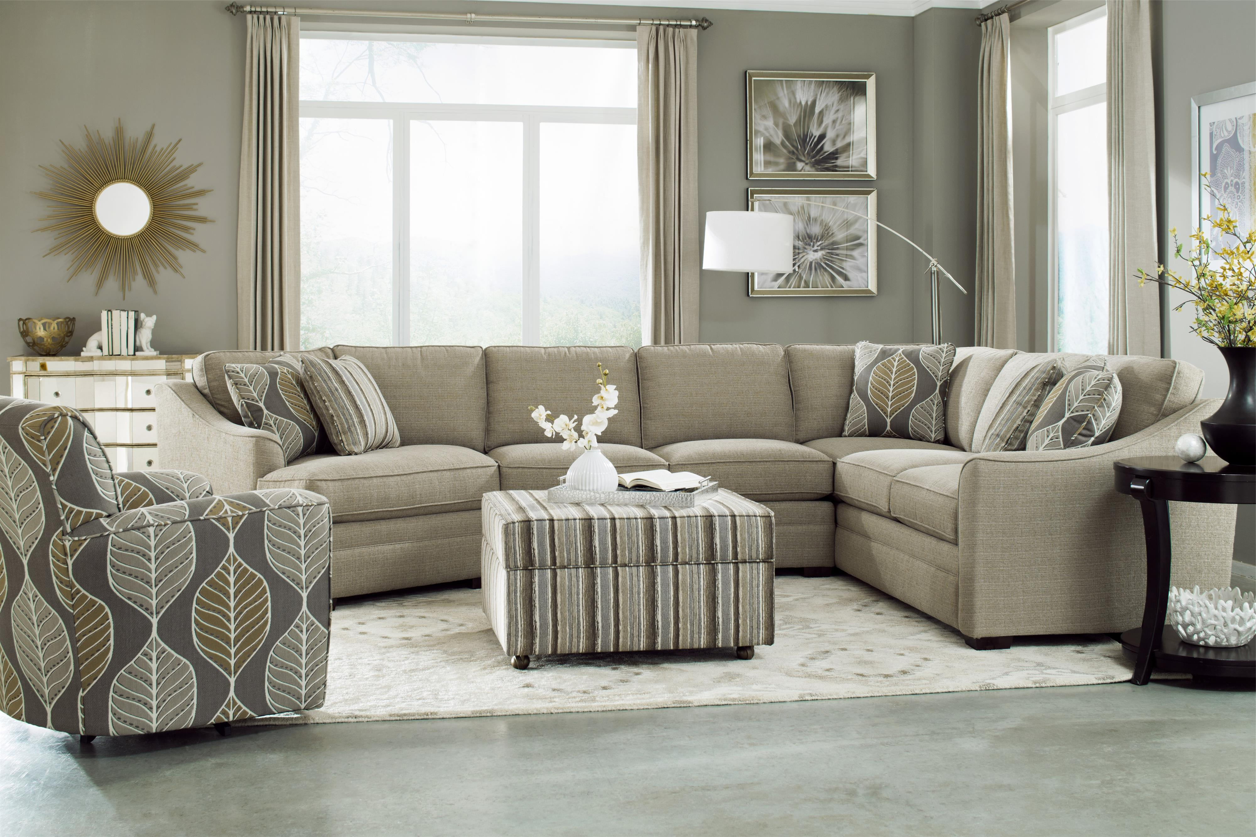 Well Liked Craftmaster F9 Custom Collection <b>customizable</b> 3 Piece In Blaine 3 Piece Sectionals (View 17 of 20)