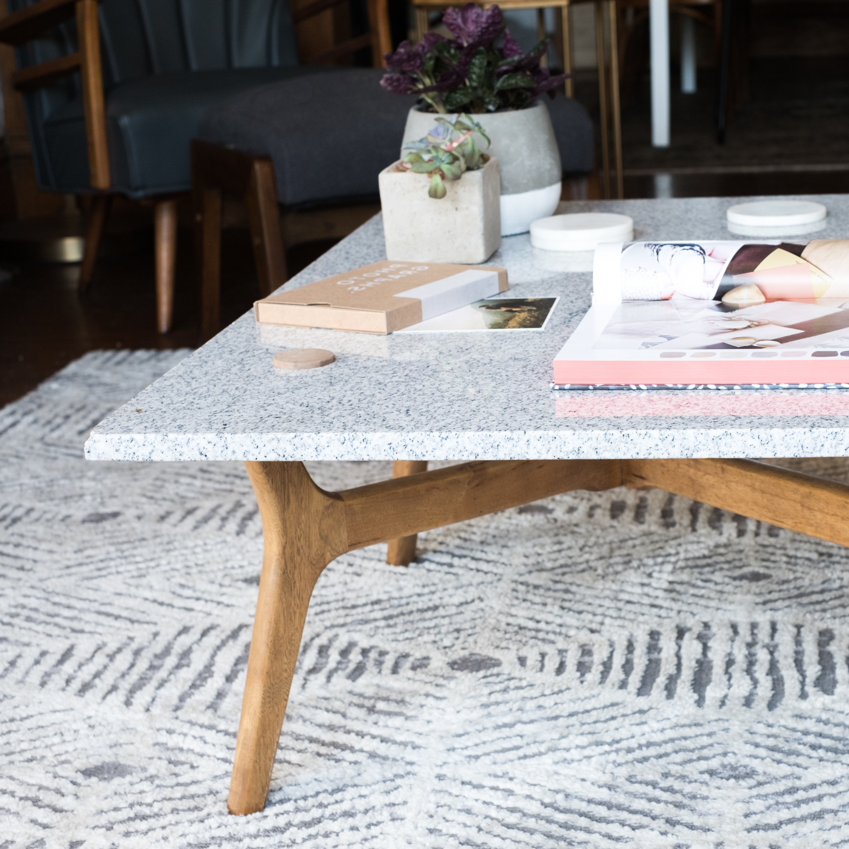 Well Liked Diy Stone Top Coffee Table – Design*sponge Intended For Stone Top Coffee Tables (View 20 of 20)